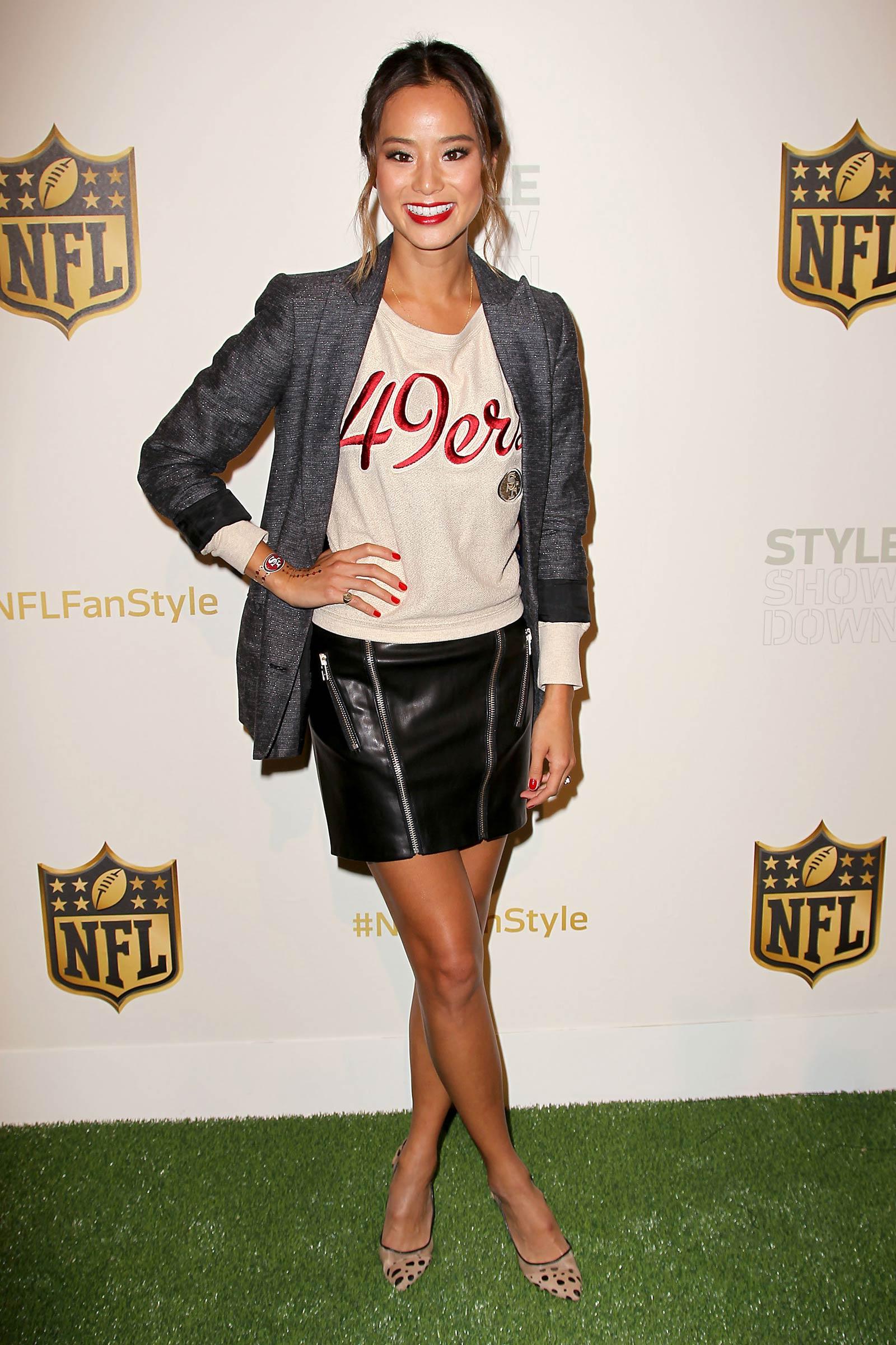 Jamie Chung, Tika Sumpter and Dascha Polanco attend NFL Women's Style Showdown
