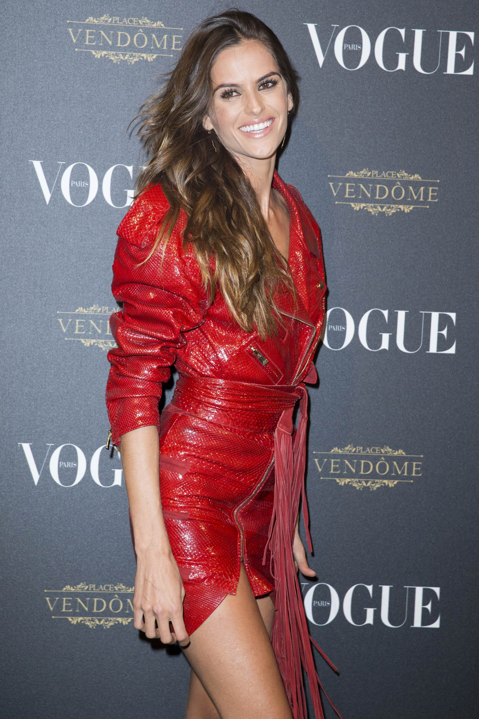 Izabel Goulart attends Vogue 95th anniversary party