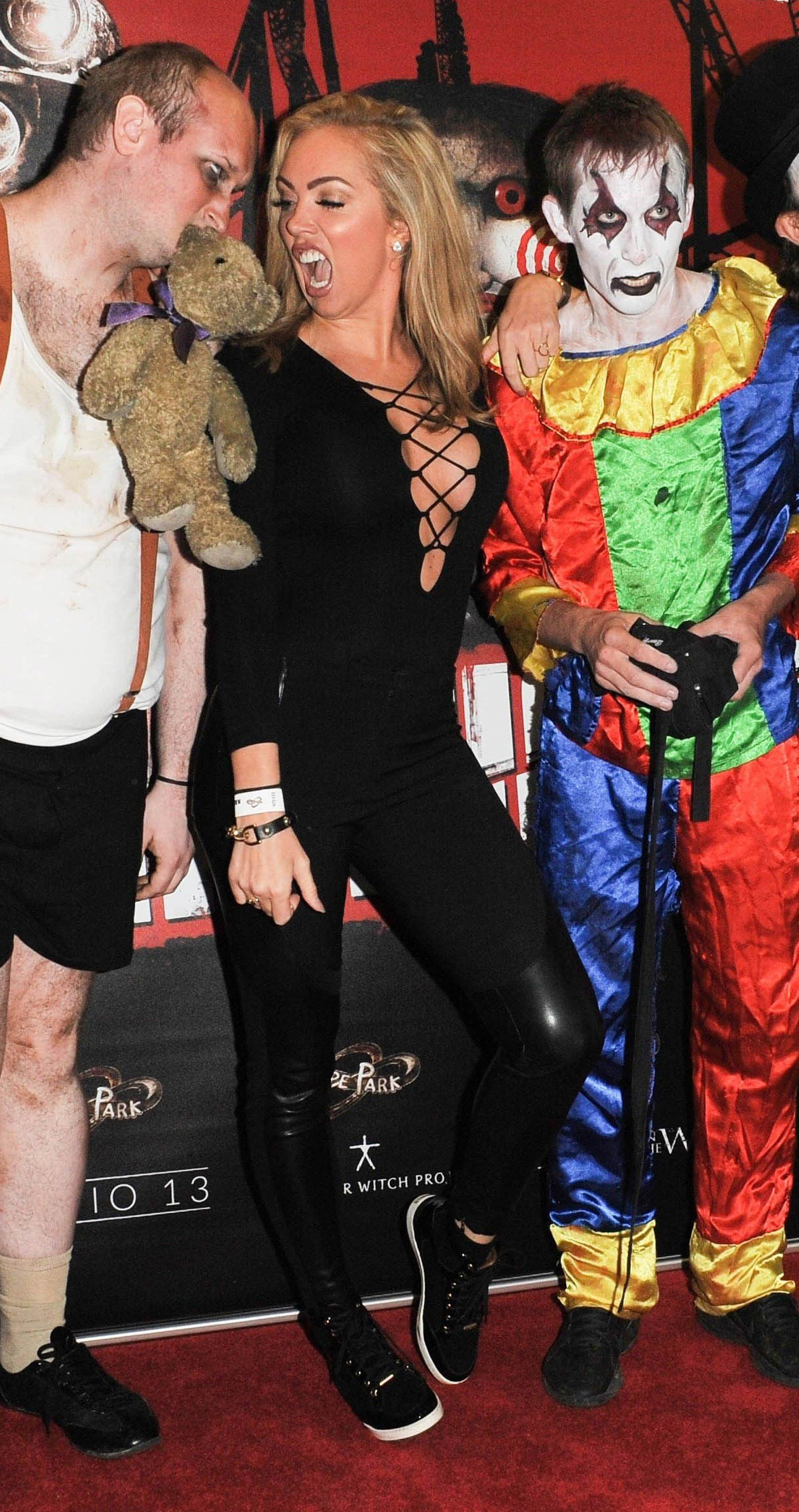 Aisleyne Horgan Wallace at Thorpe Park Fright Nights