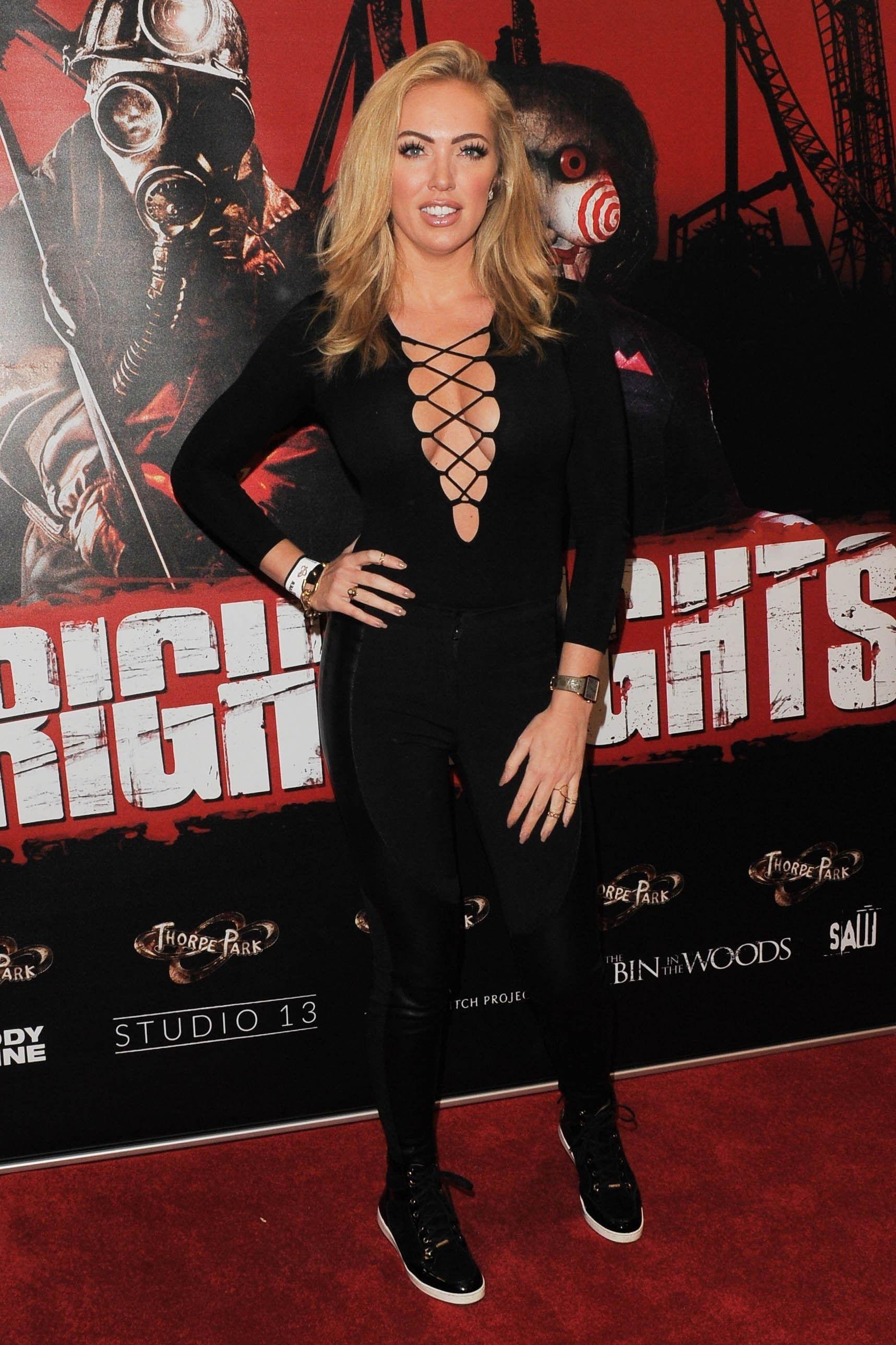 Aisleyne Horgan Wallace at Thorpe Park Fright Nights