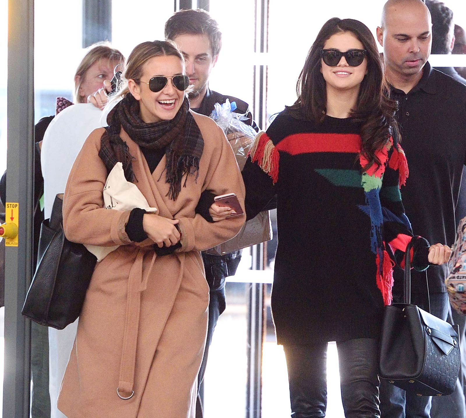 Selena Gomez departing from JFK Airport