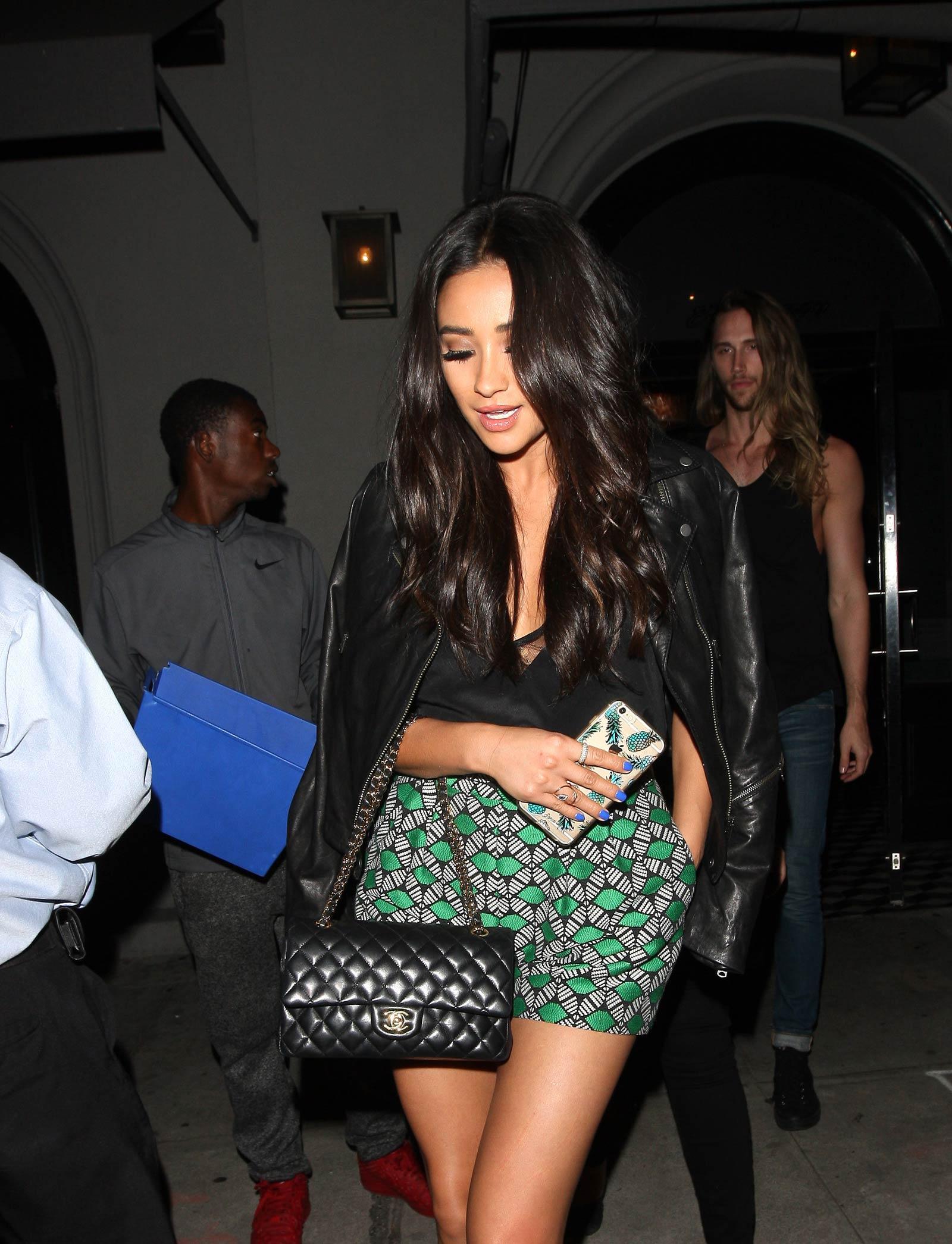 Shay Mitchell leaving Craig's Restaurant