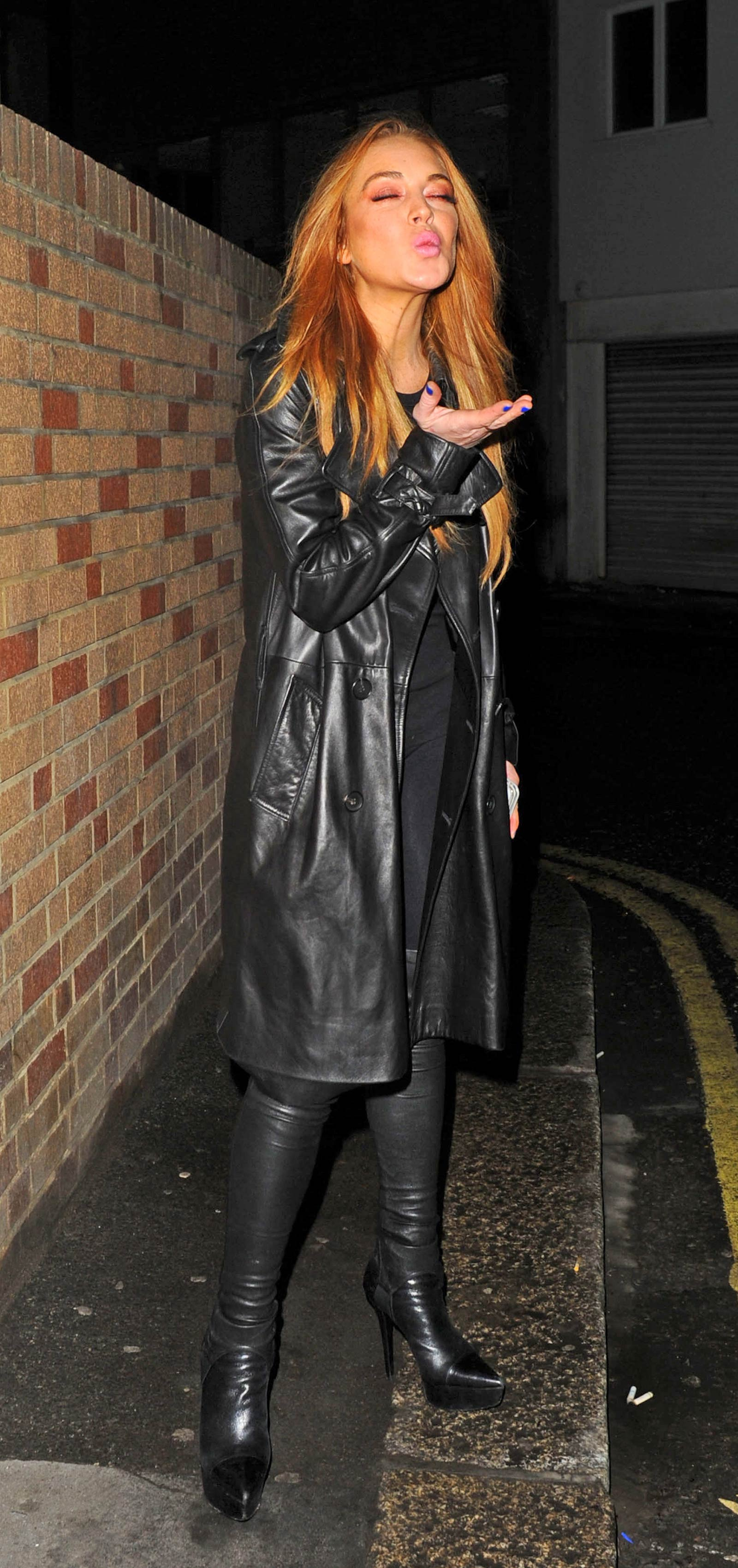 Lindsay Lohan out in London