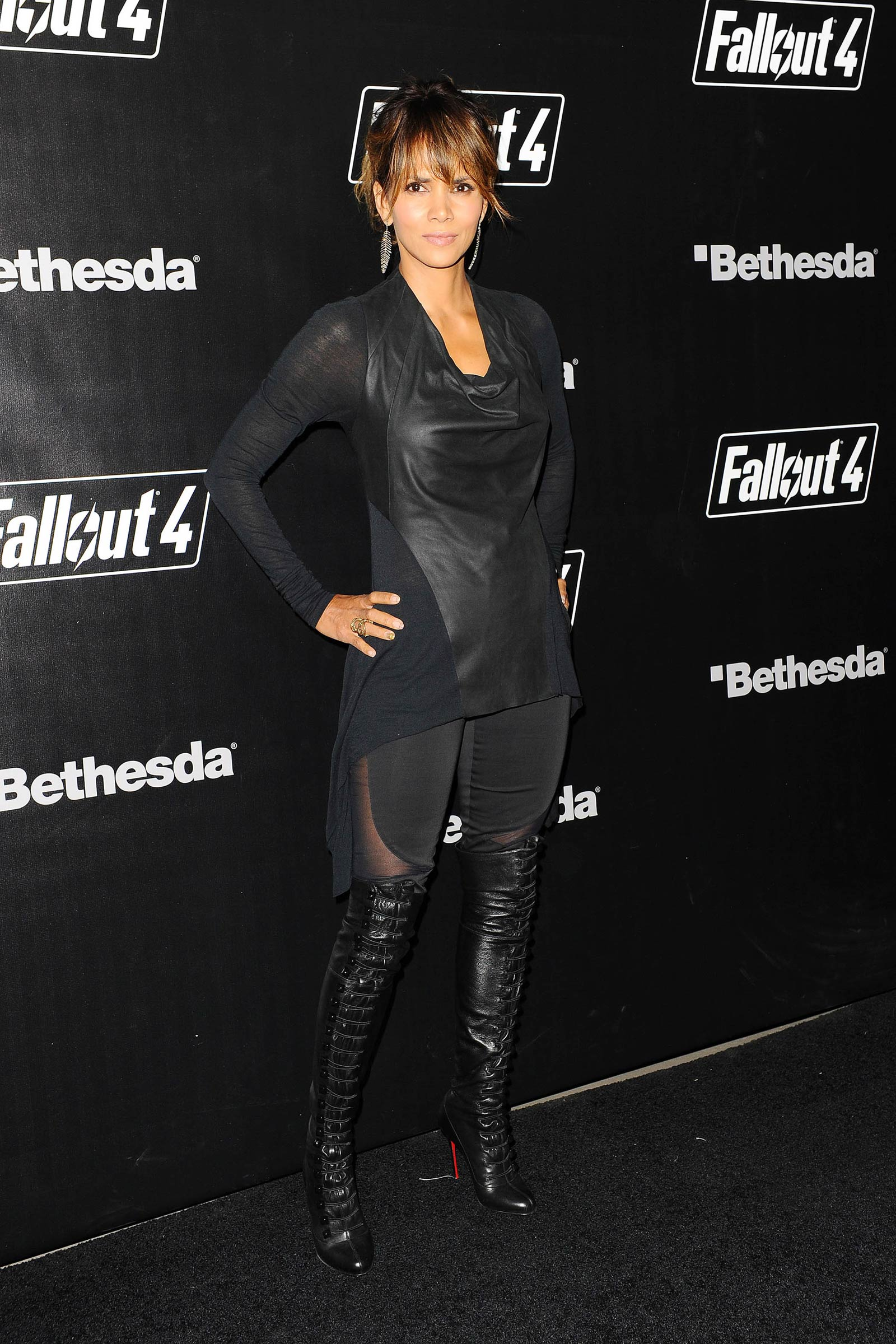Gallery - Leather Celebrities Halle Berry