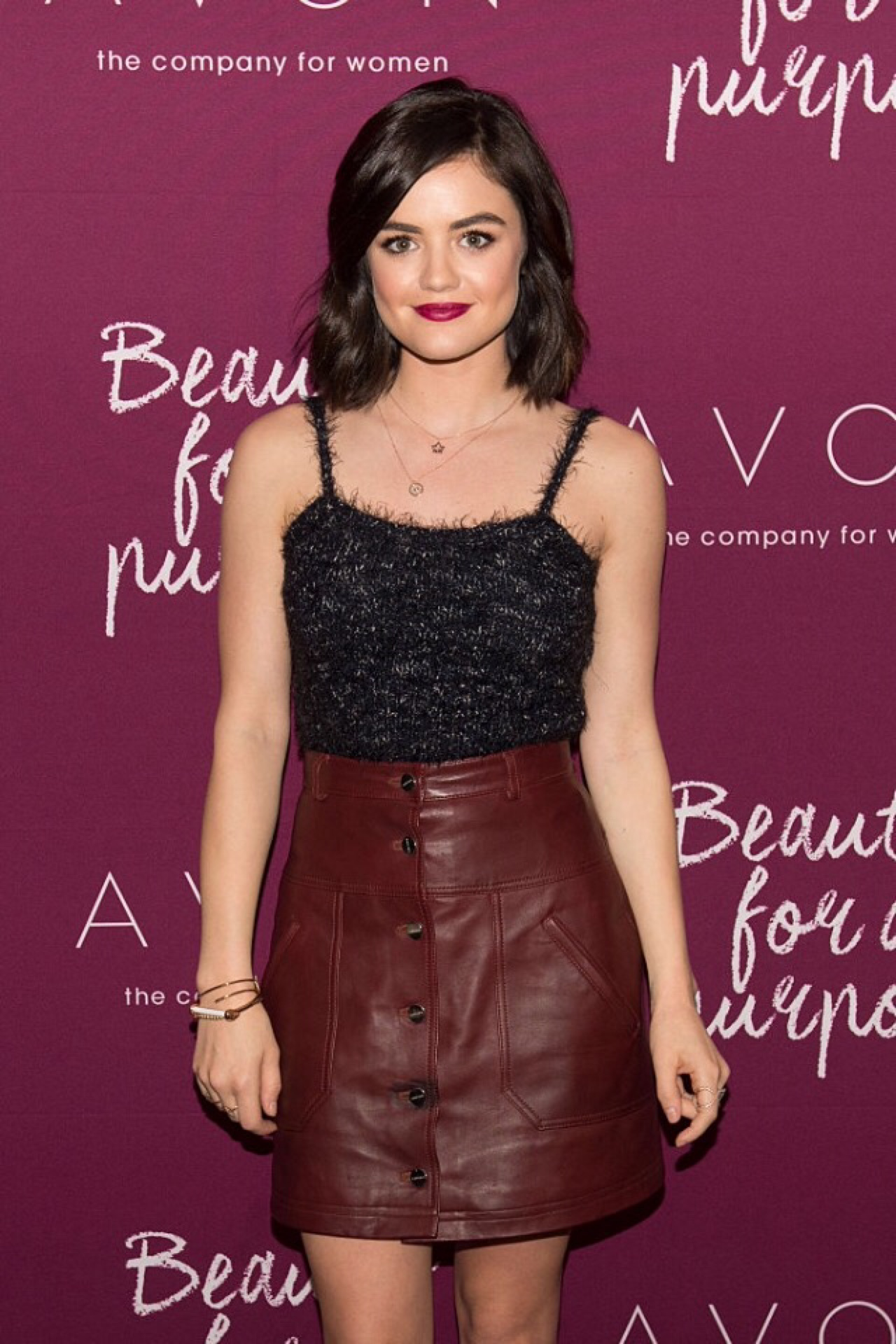Lucy Hale attends Mark Holiday Collection