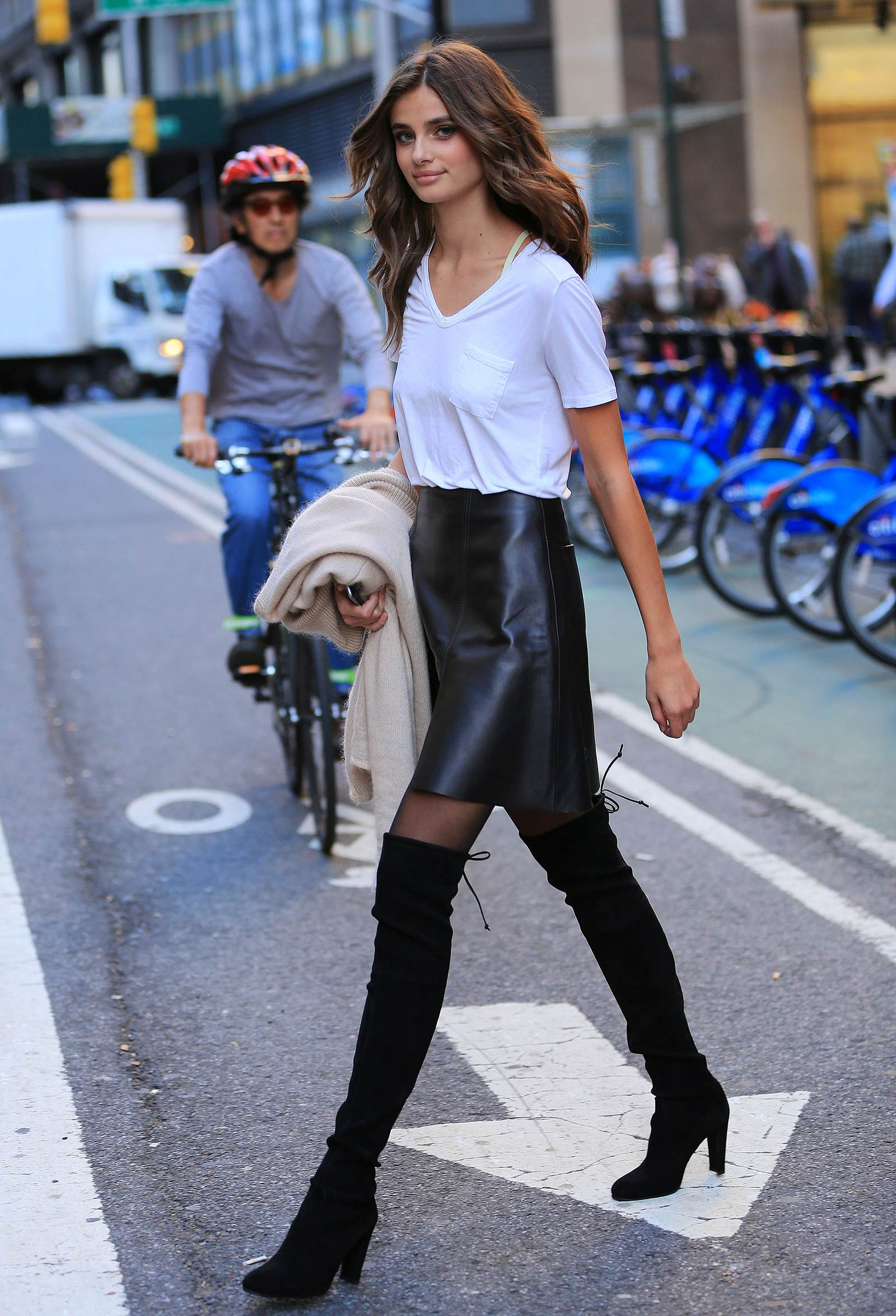 Taylor Marie Hill out in New York