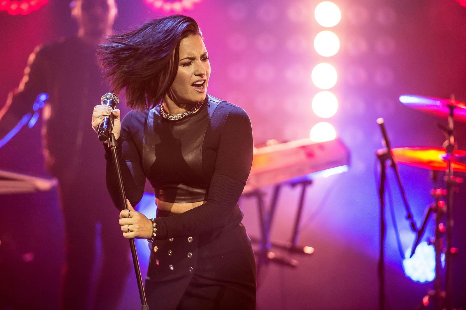 Demi Lovato Photo Gallery >> Gallery - Leather Celebrities