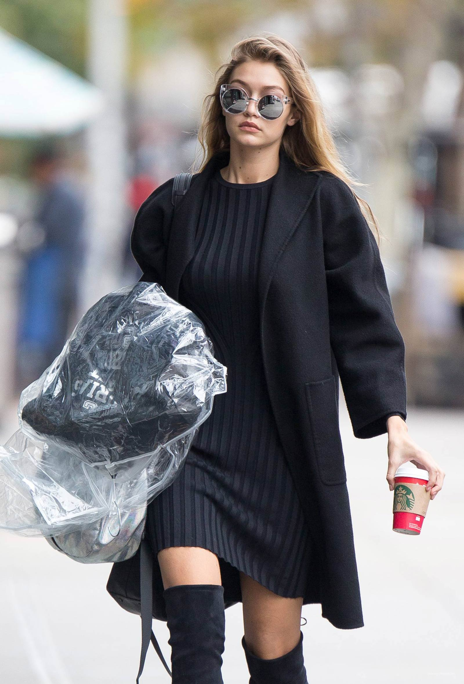 Gigi Hadid spotted departing her residence in