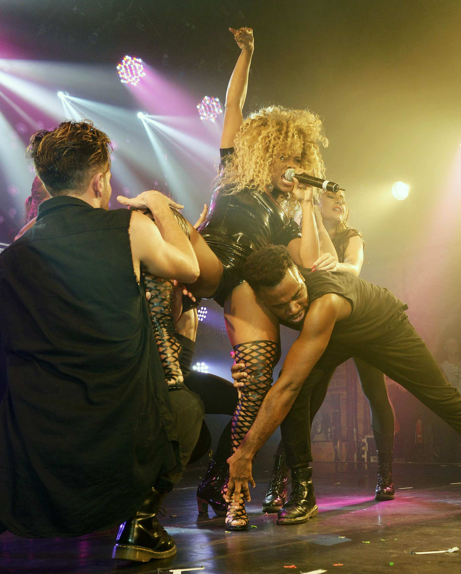 Fleur East performing at G-A-Y