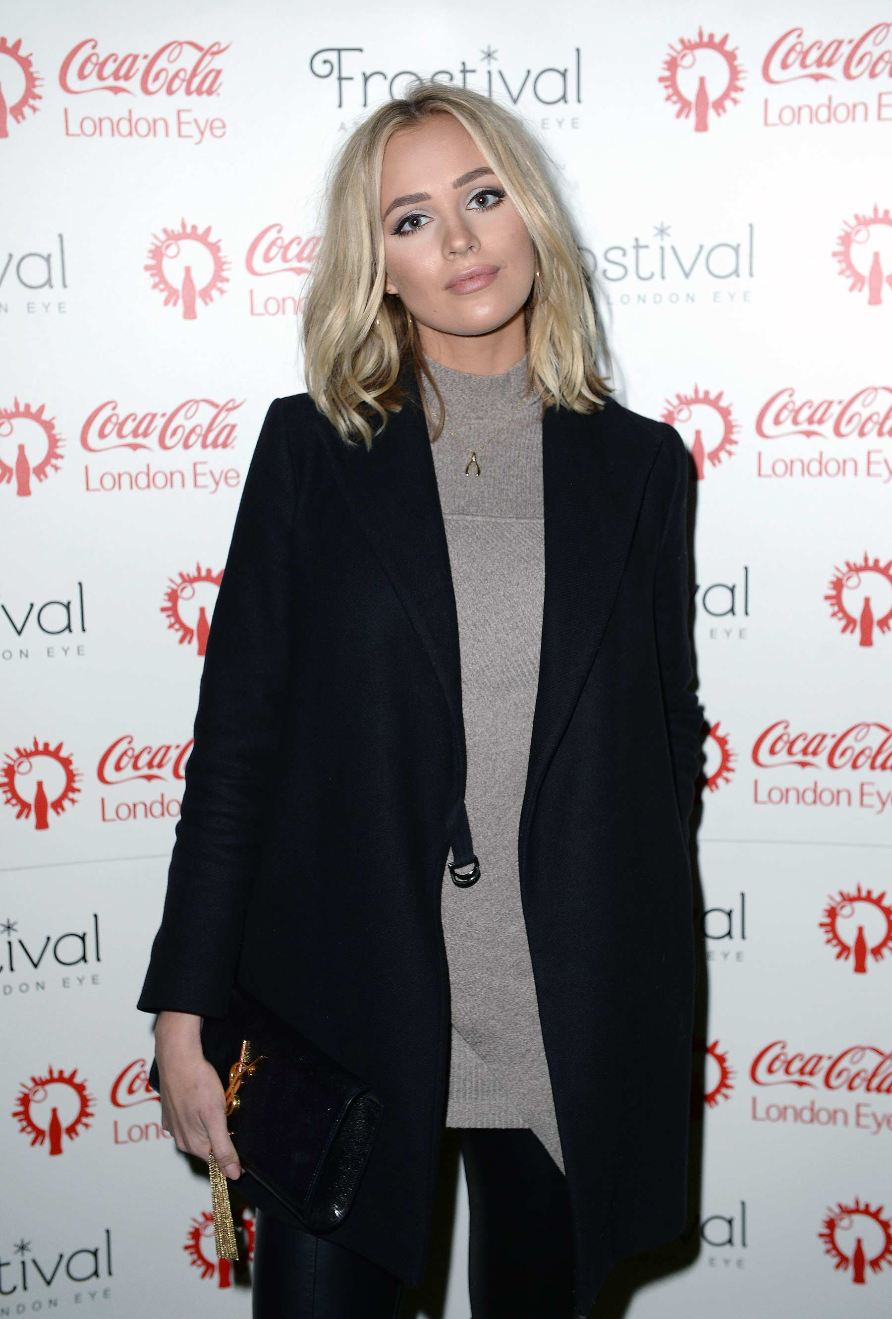 Ianthe Rose Cochrane attends Coca Cola London Eye Frostival Eyeskate