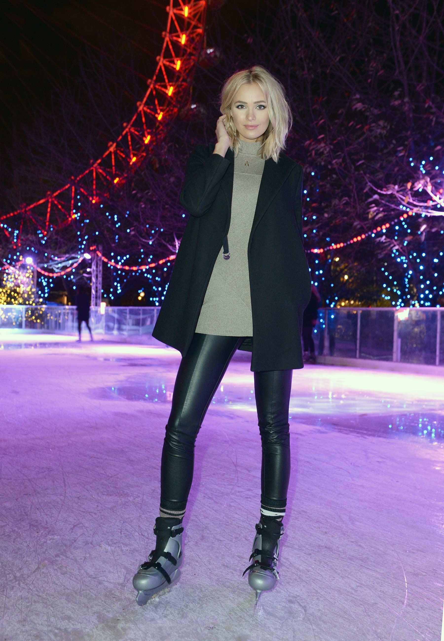 Ianthe Rose Cochrane attends Coca Cola London Eye Frostival Eyeskate