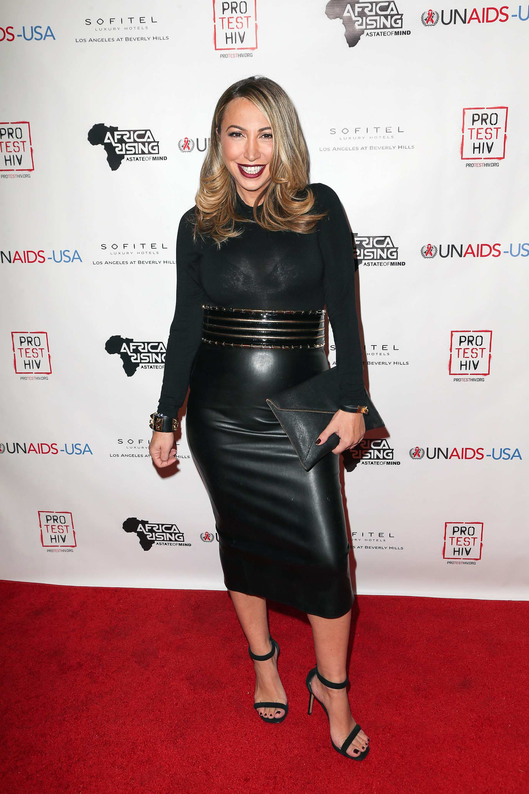 Diana Madison attends Inaugural World AIDS Day Benefit