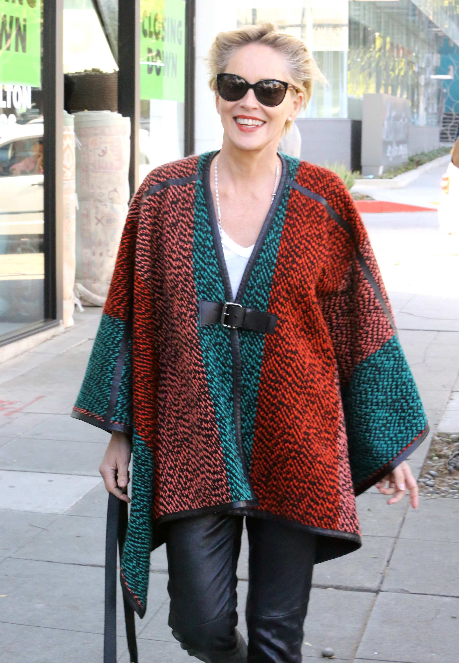 Sharon Stone is spotted shopping for rugs in Beverly Hills