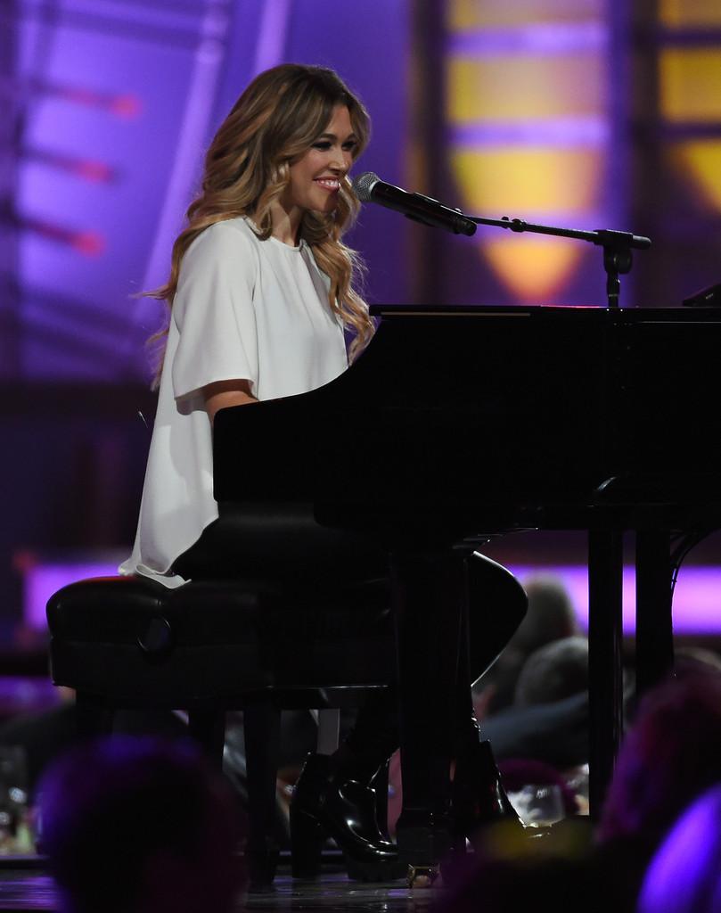 Rachel Platten performing during the 2015 NASCAR Sprint Cup Series Awards