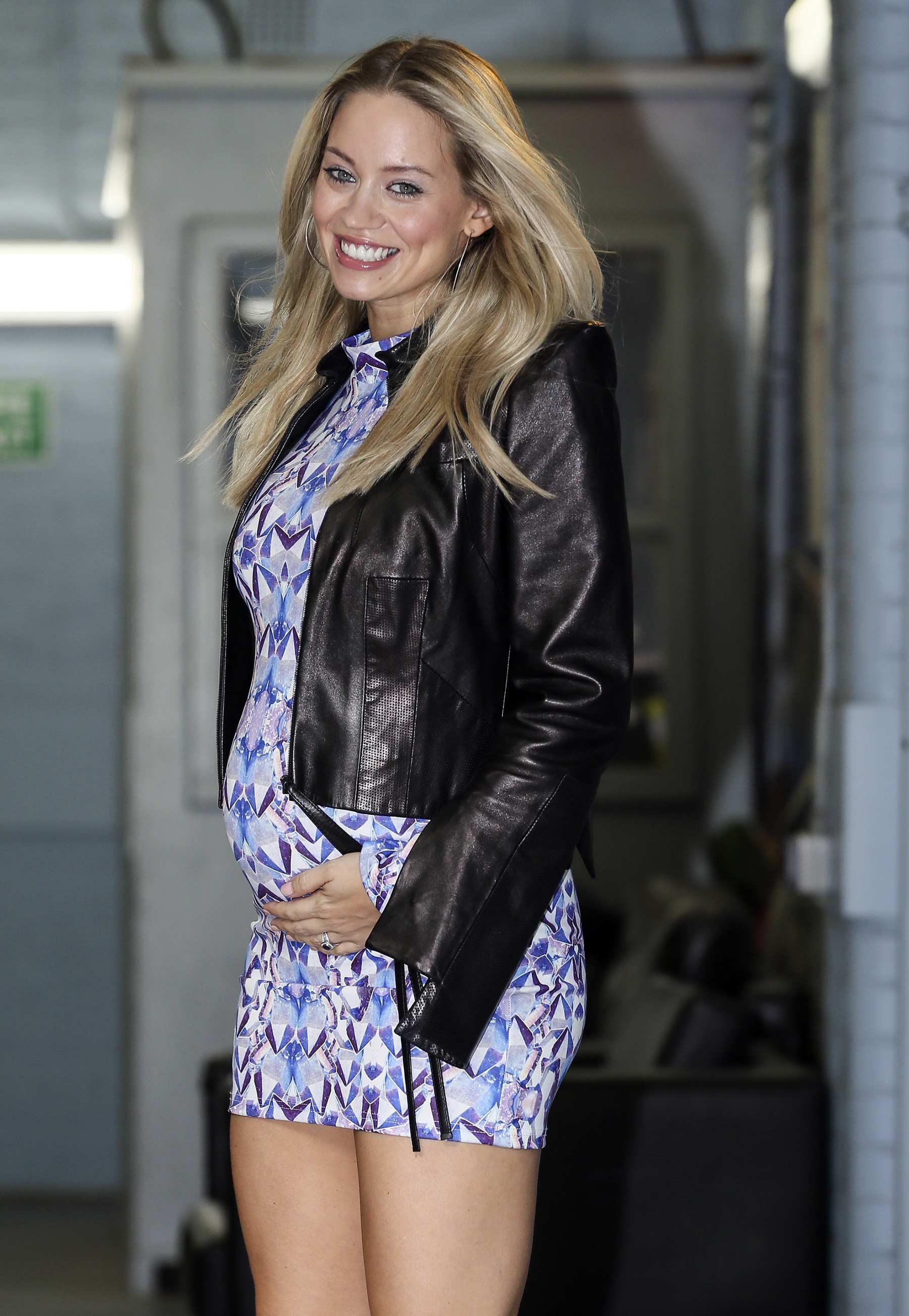 Kimberly Wyatt outside The London Studios