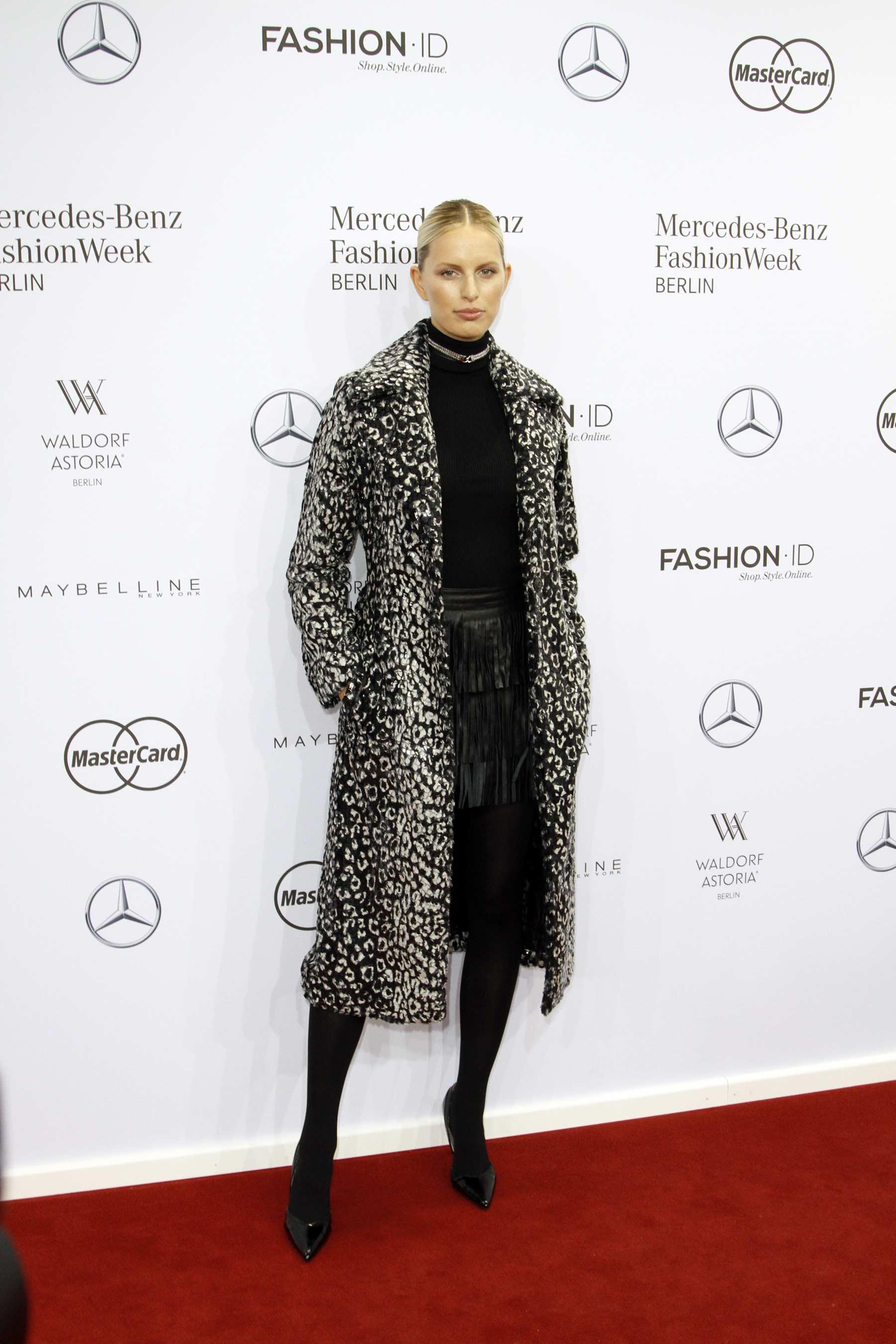 Karolina Kurkova attends Maria Kretschmer show during the Mercedes-Benz Fashion Week Berlin