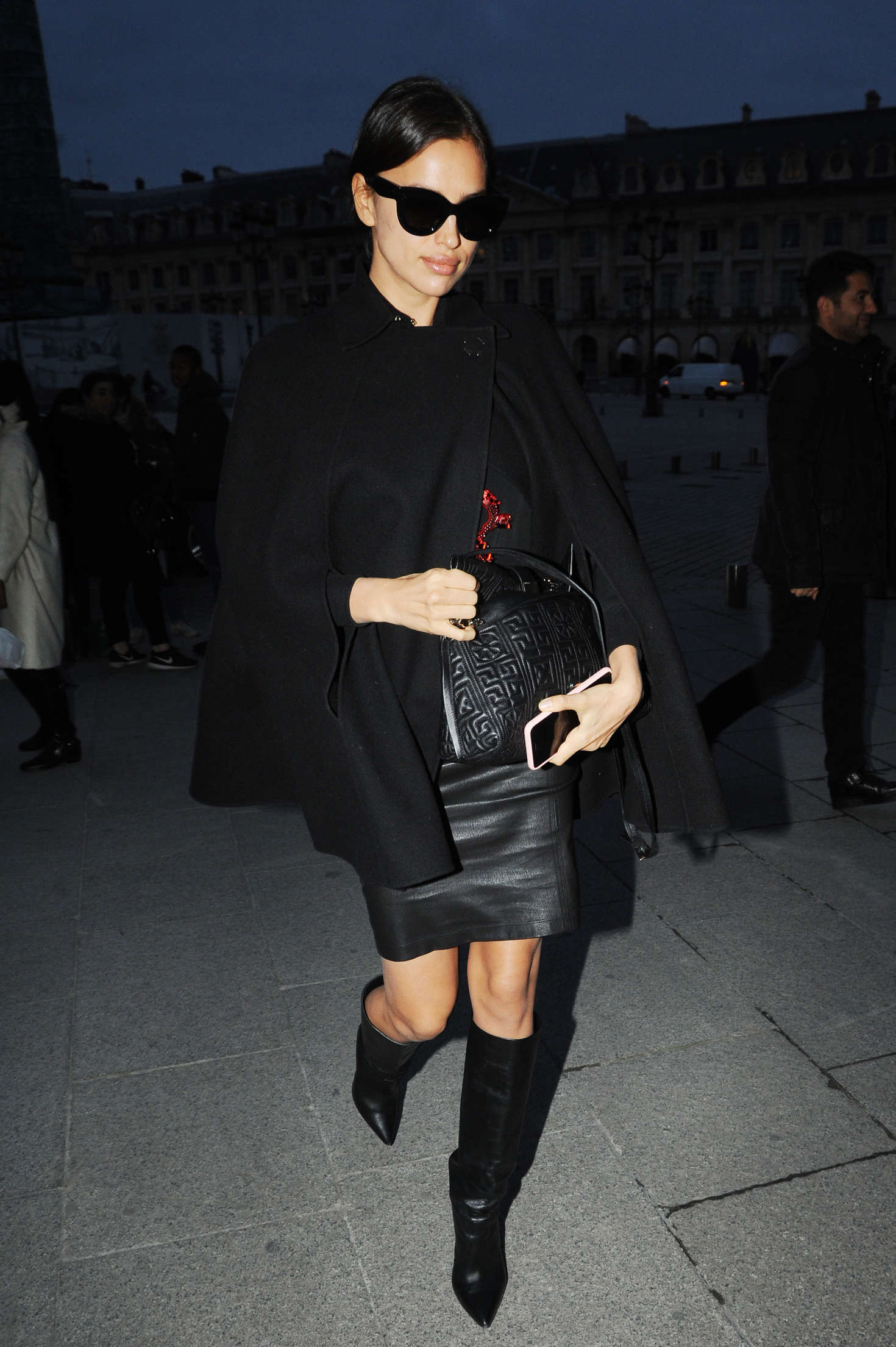 Irina Shayk out and about in Paris