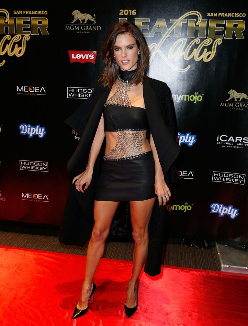 Alessandra Ambrosio attends the Leather & Laces mega party