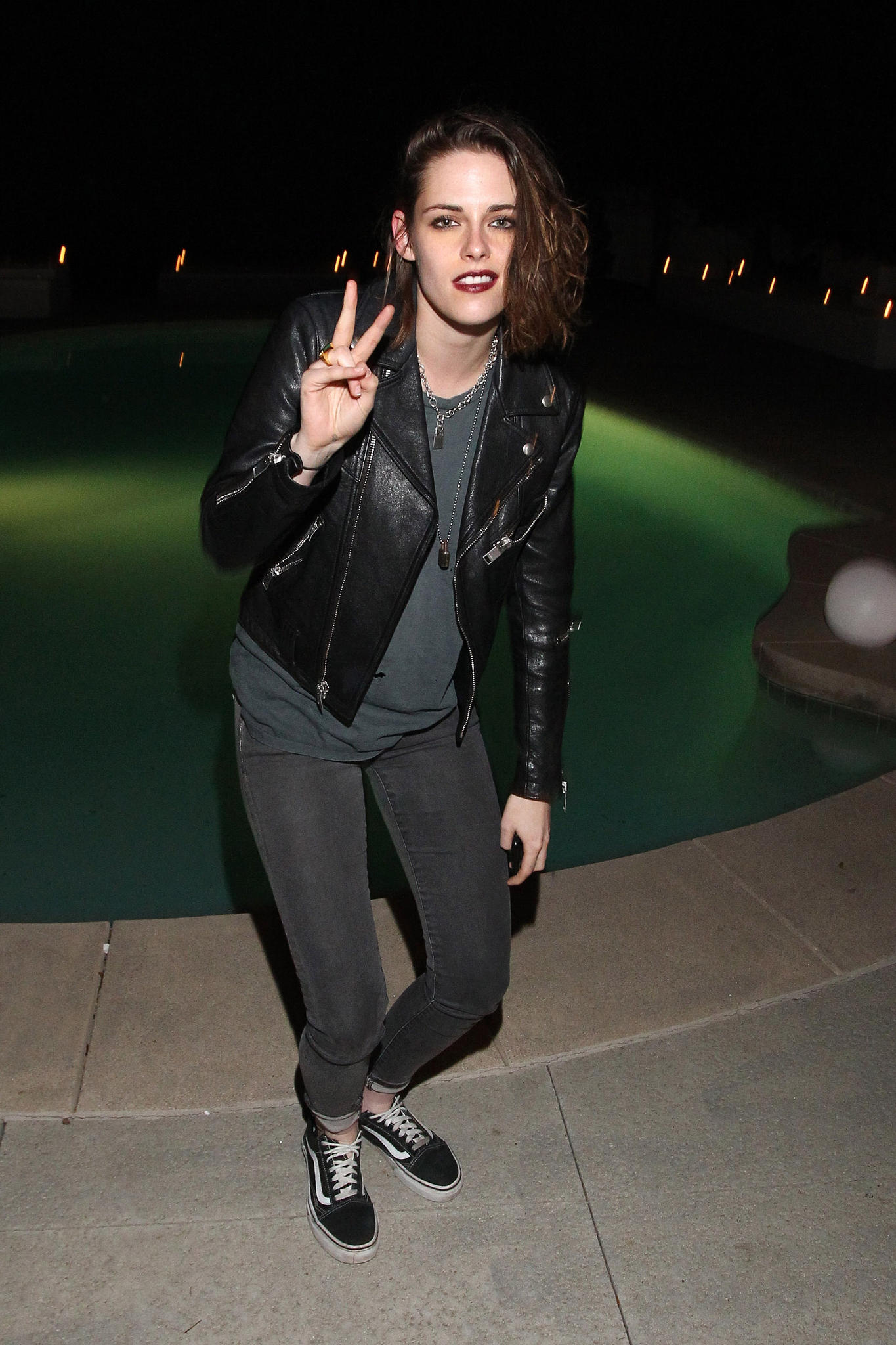 Kristen Stewart attends the Albright Fashion Library launch