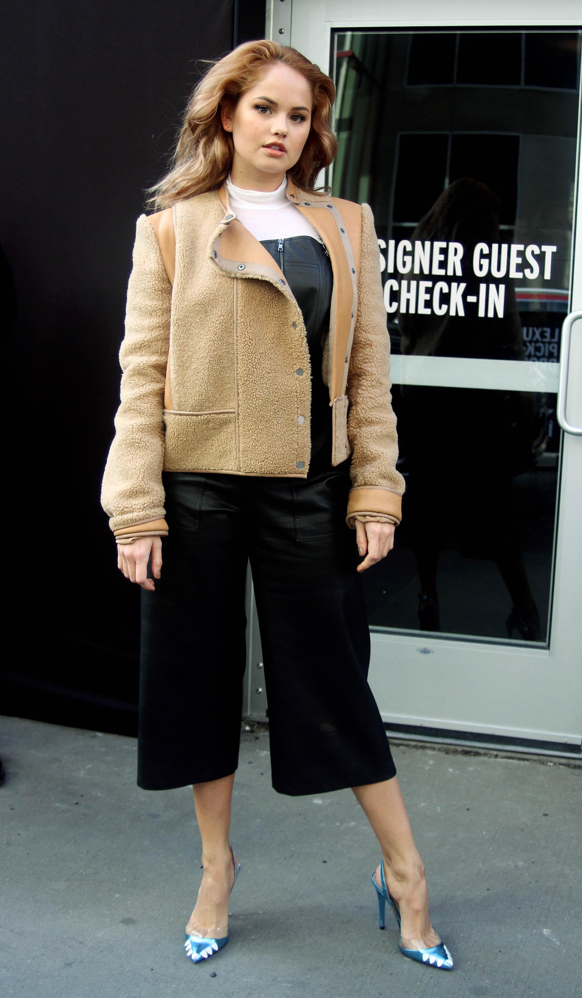 Debby Ryan leaving a Fashion Show