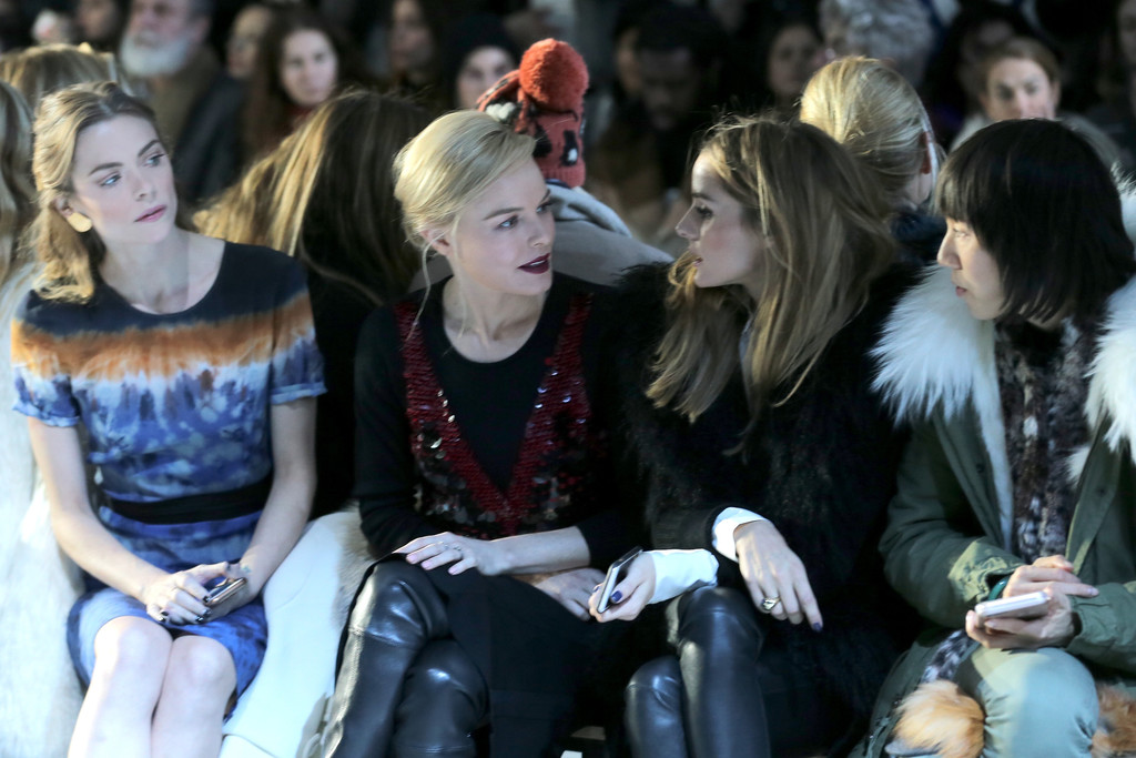 Olivia Palermo attends the Altuzarra Fall 2016 fashion show