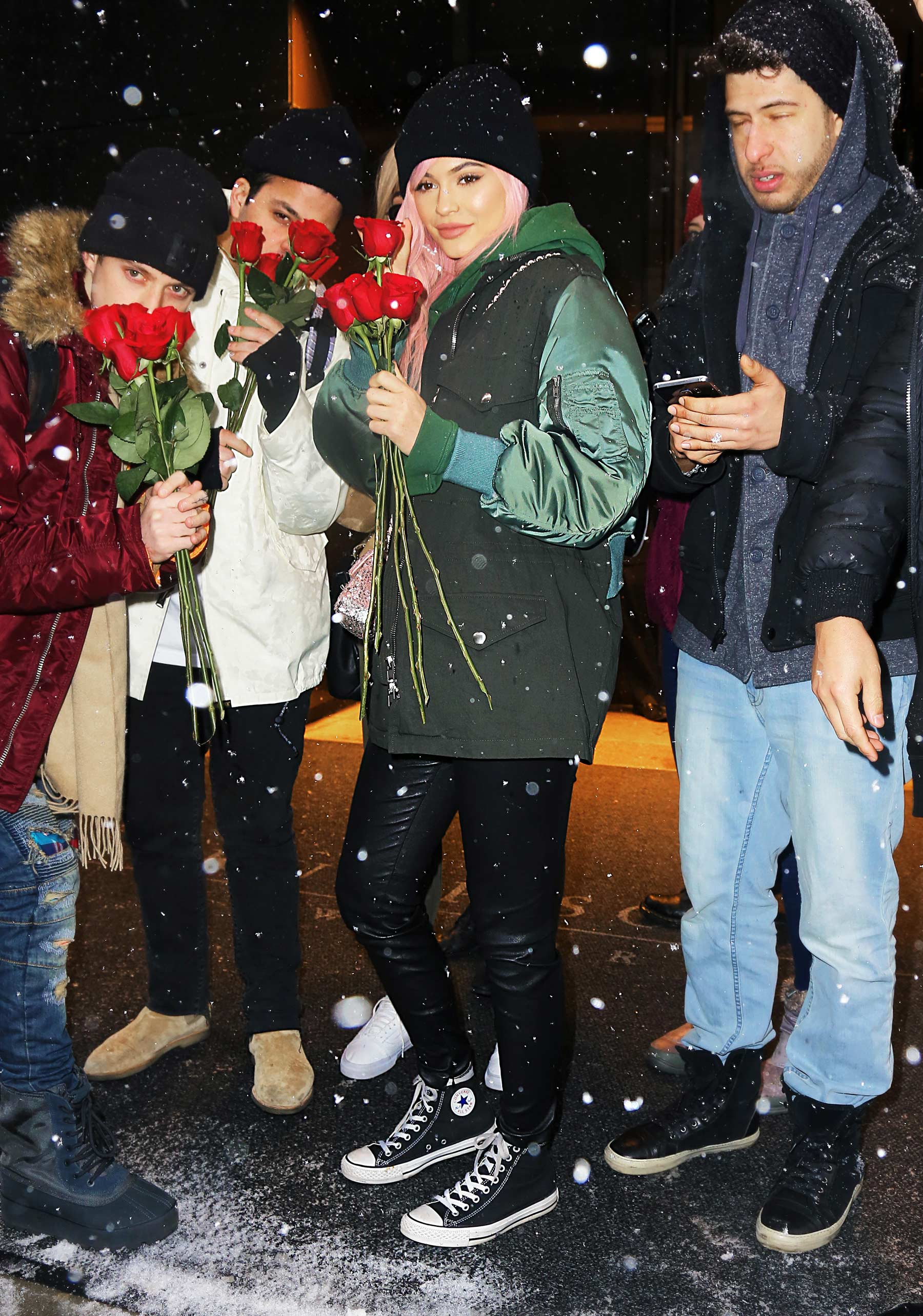Kylie Jenner leaving her hotel in New York City