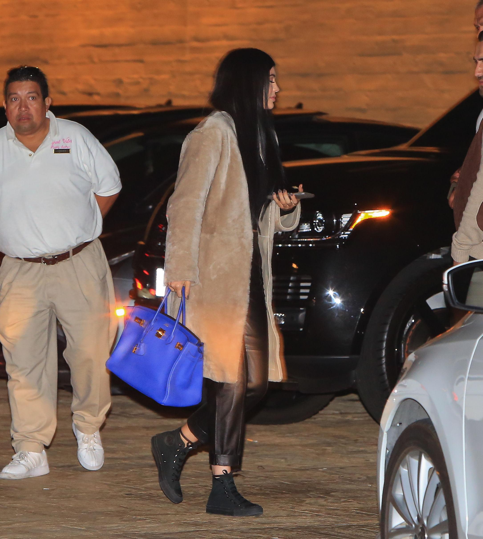 Kylie Jenner arriving at Nobu Restaurant