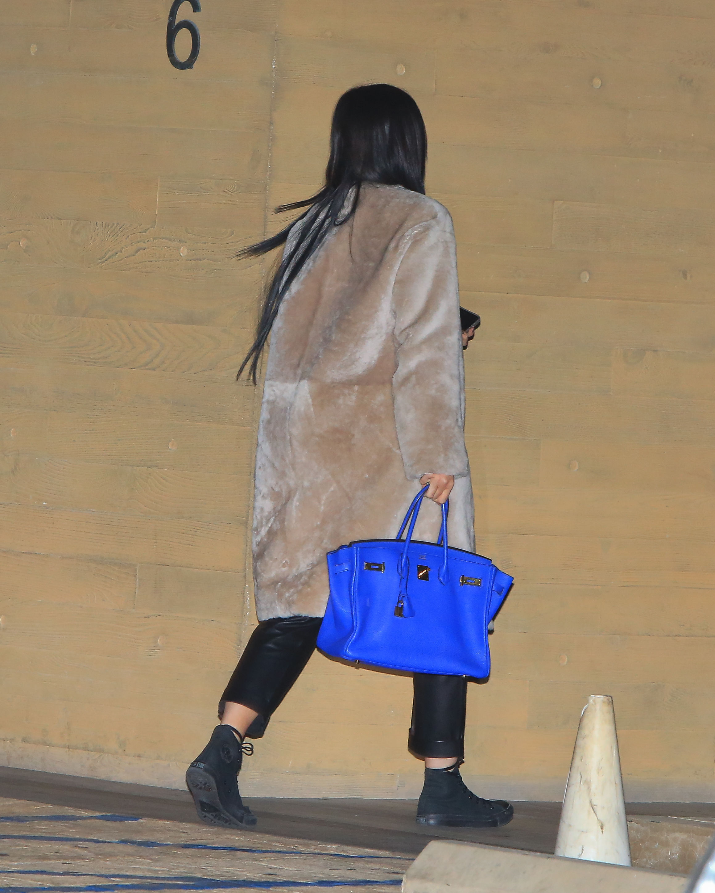 Kylie Jenner arriving at Nobu Restaurant