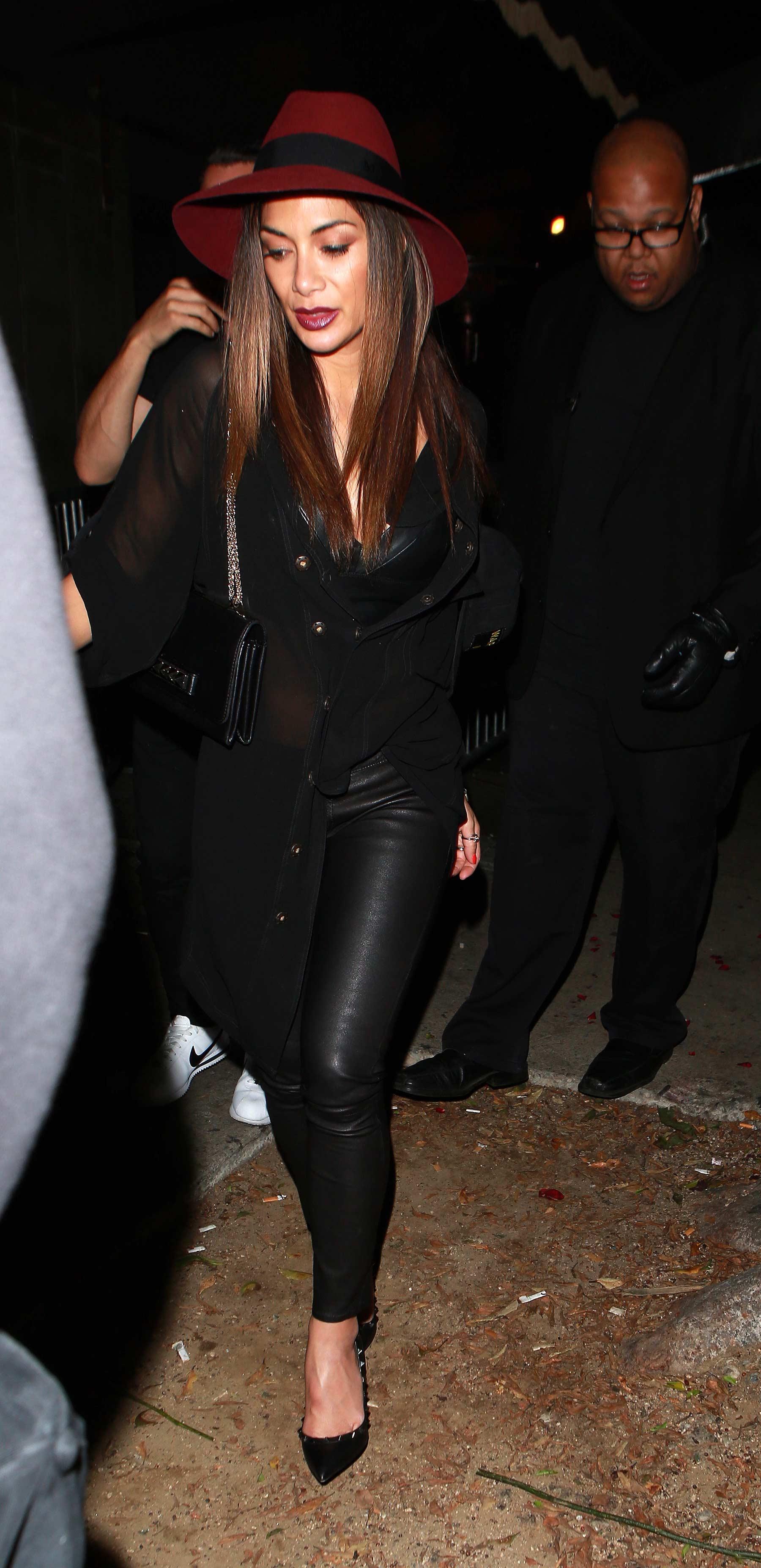 Nicole Scherzinger leaving Warwick Night Club