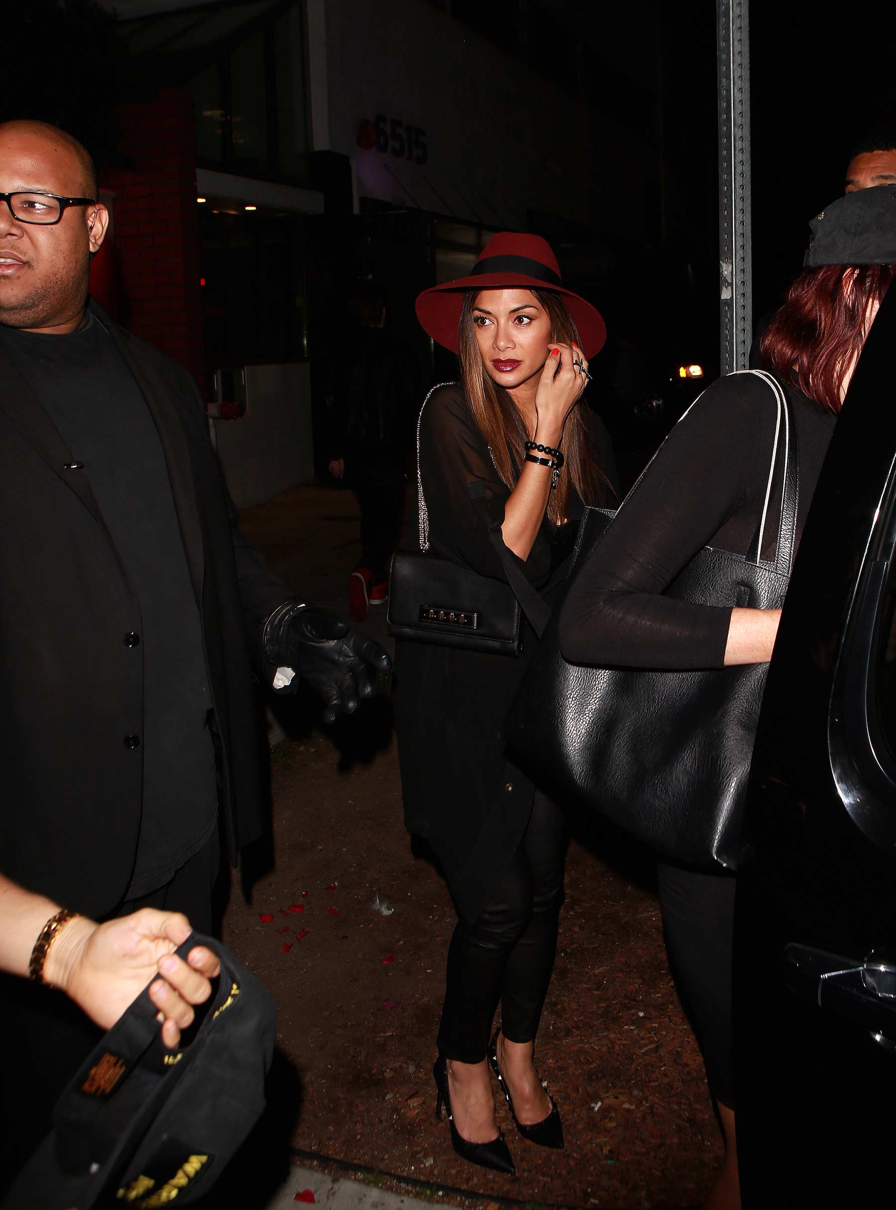 Nicole Scherzinger leaving Warwick Night Club
