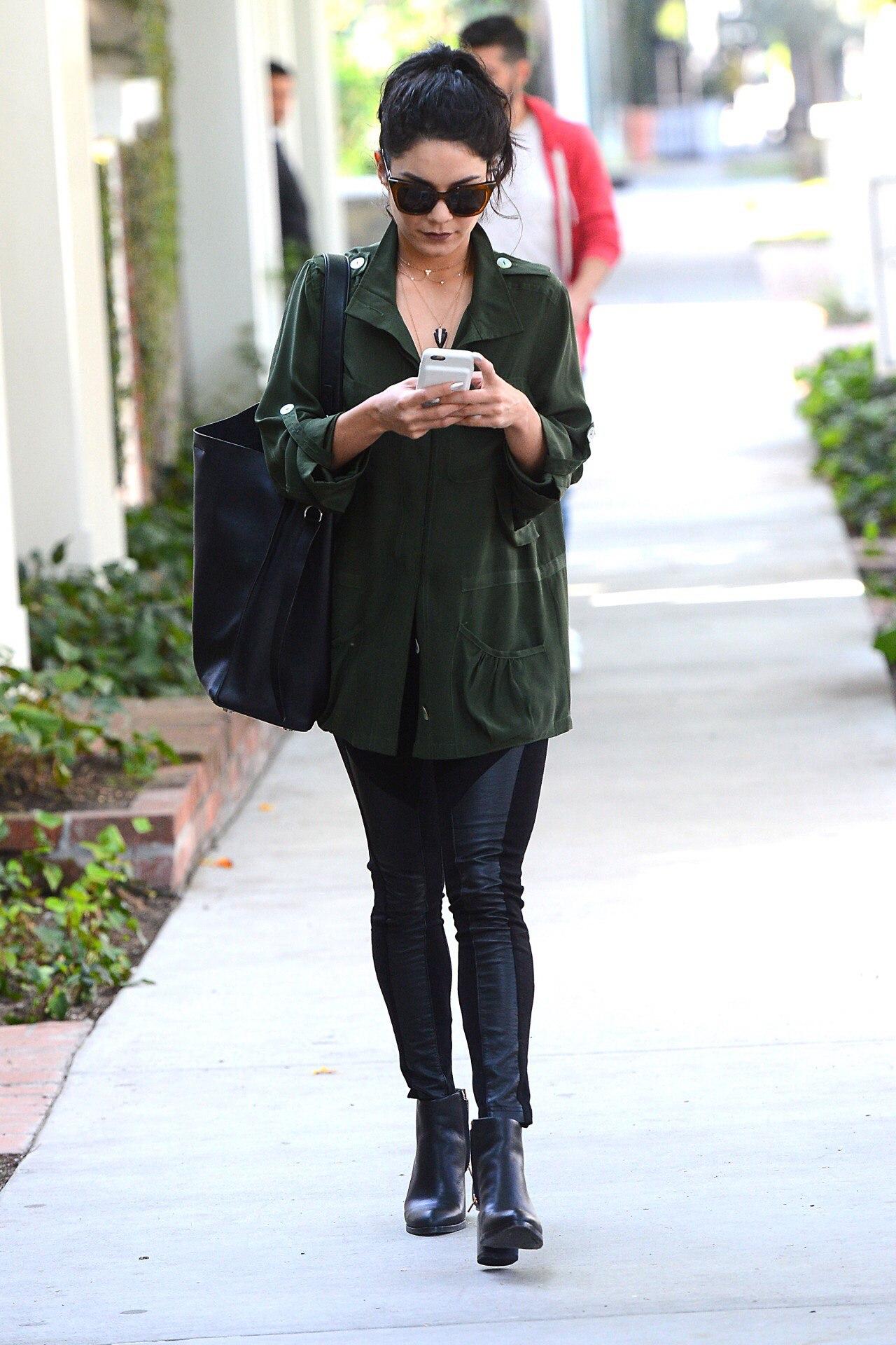 Vanessa Hudgens leaving Kate Somerville Skin Care