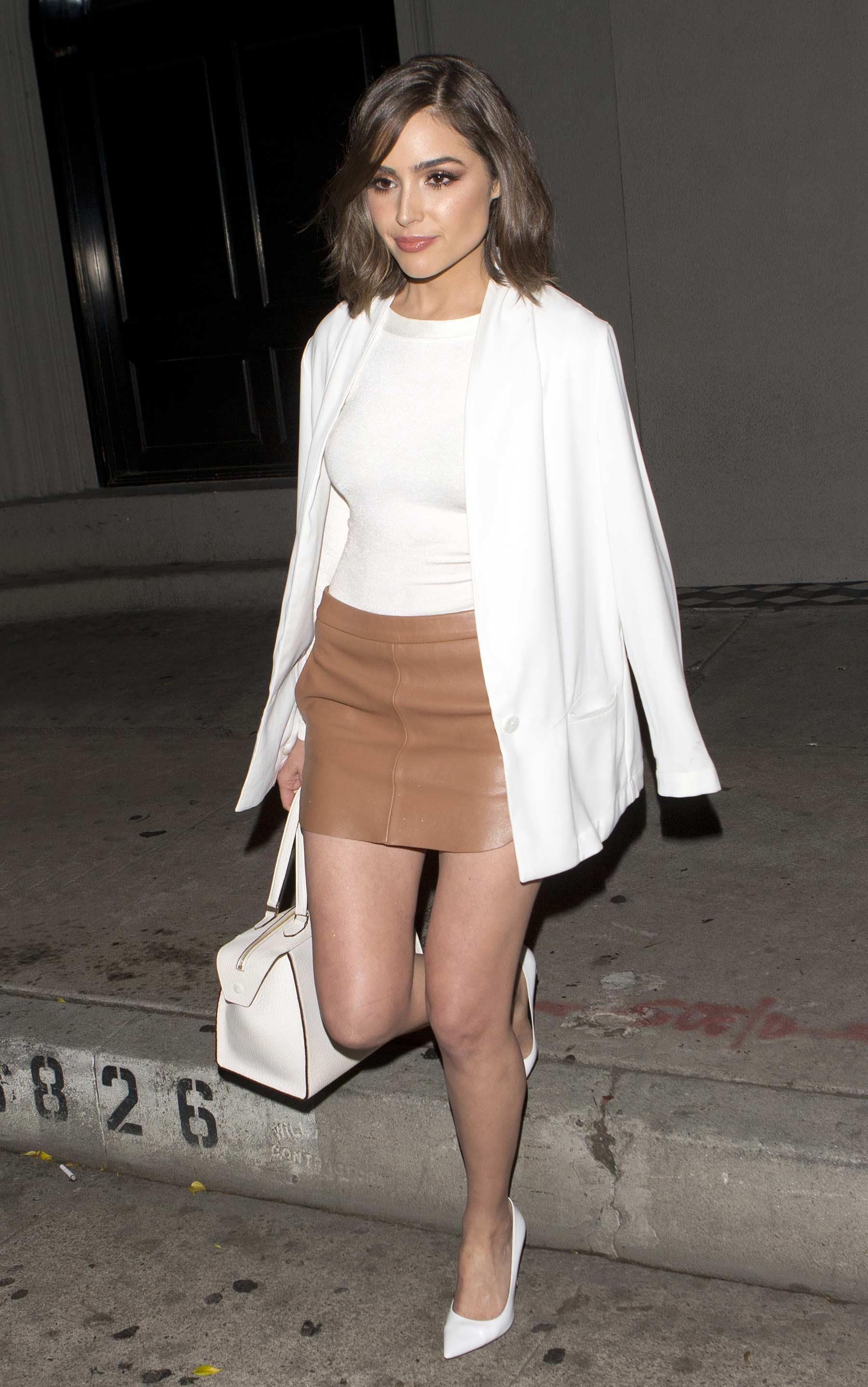 Olivia Culpo leaving Craig's Restaurant