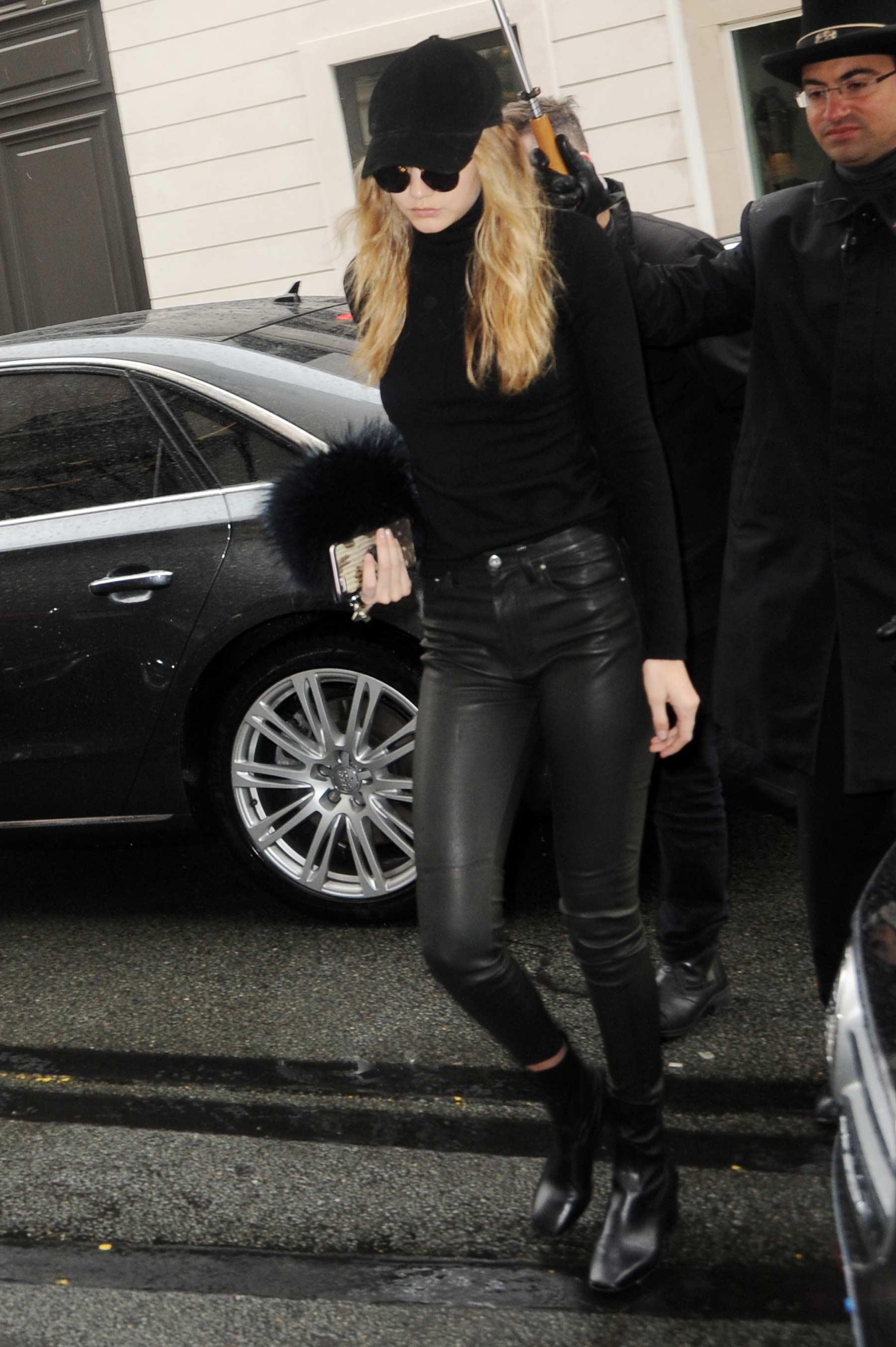 Gigi Hadid leaving her hotel in Paris