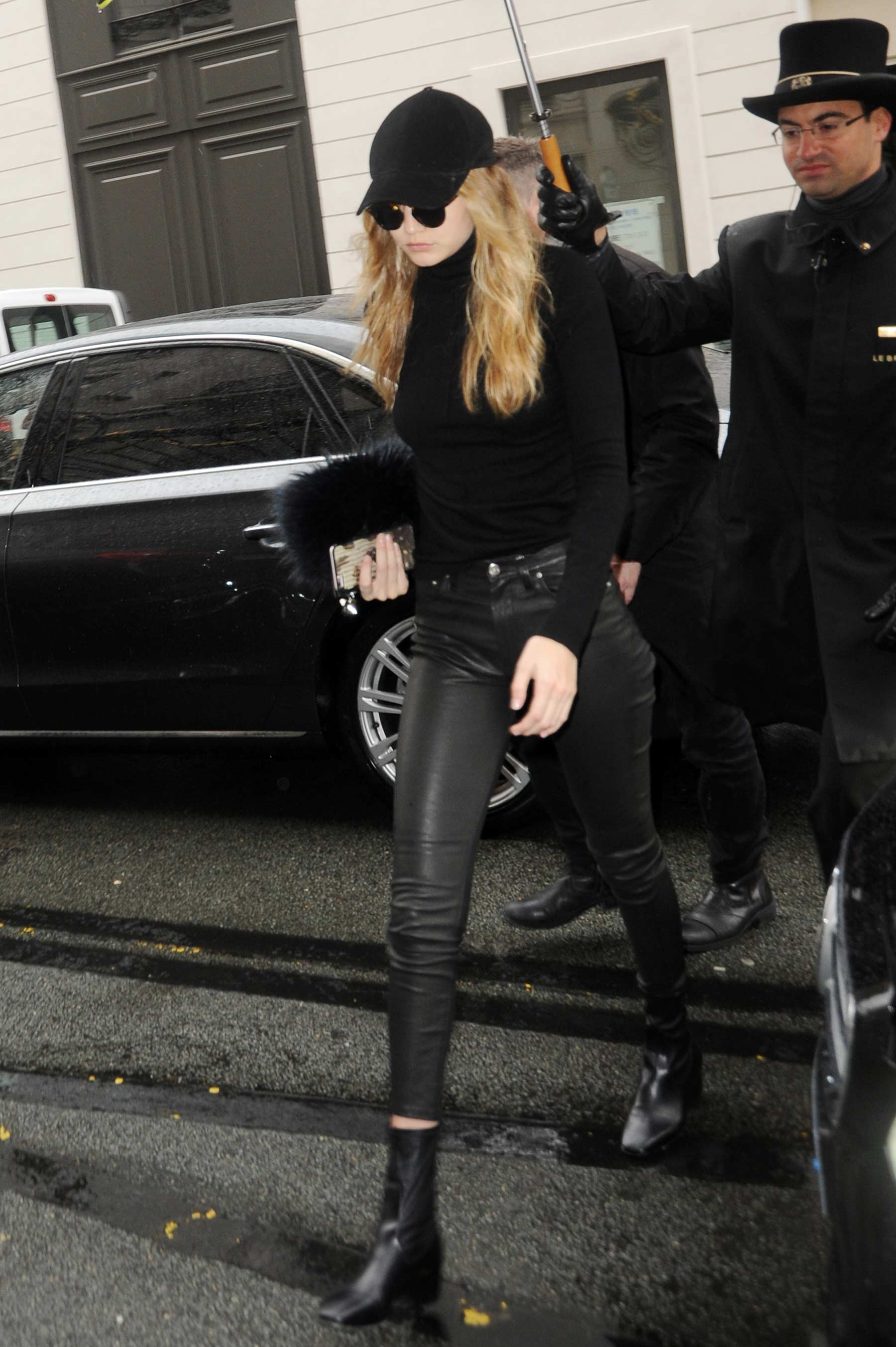 Gigi Hadid leaving her hotel in Paris