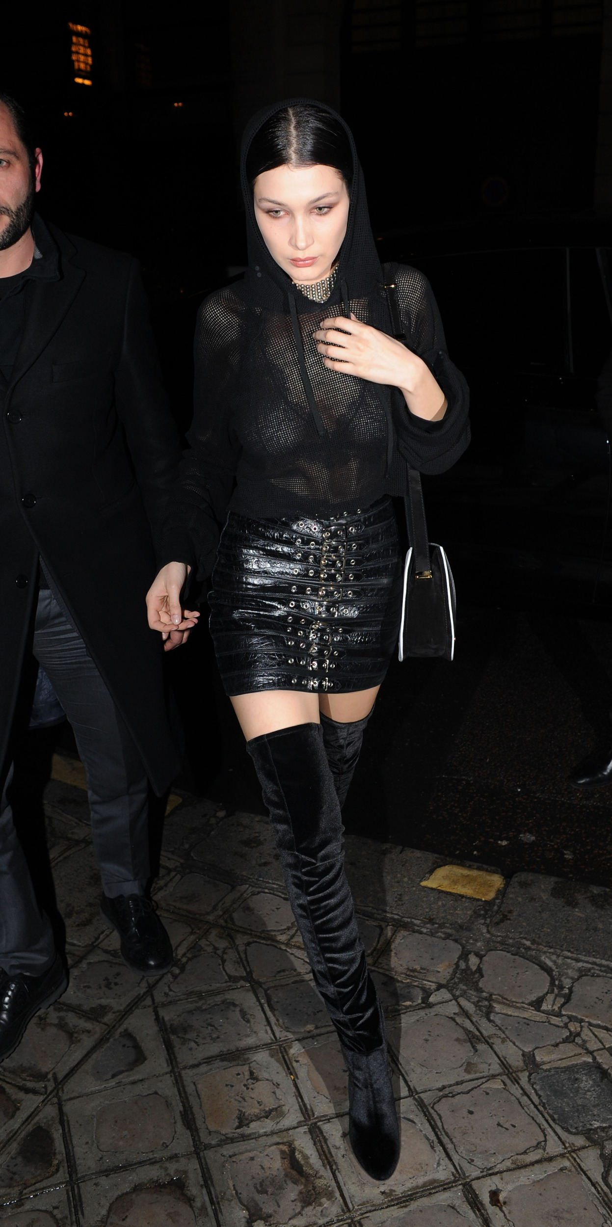 Bella Hadid leaving the Givenchy Fashion Show After Party