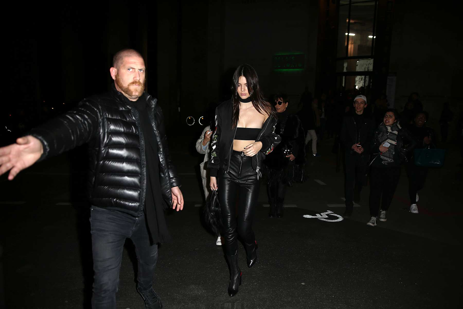 Kendall Jenner leaving the Off-White fashion show