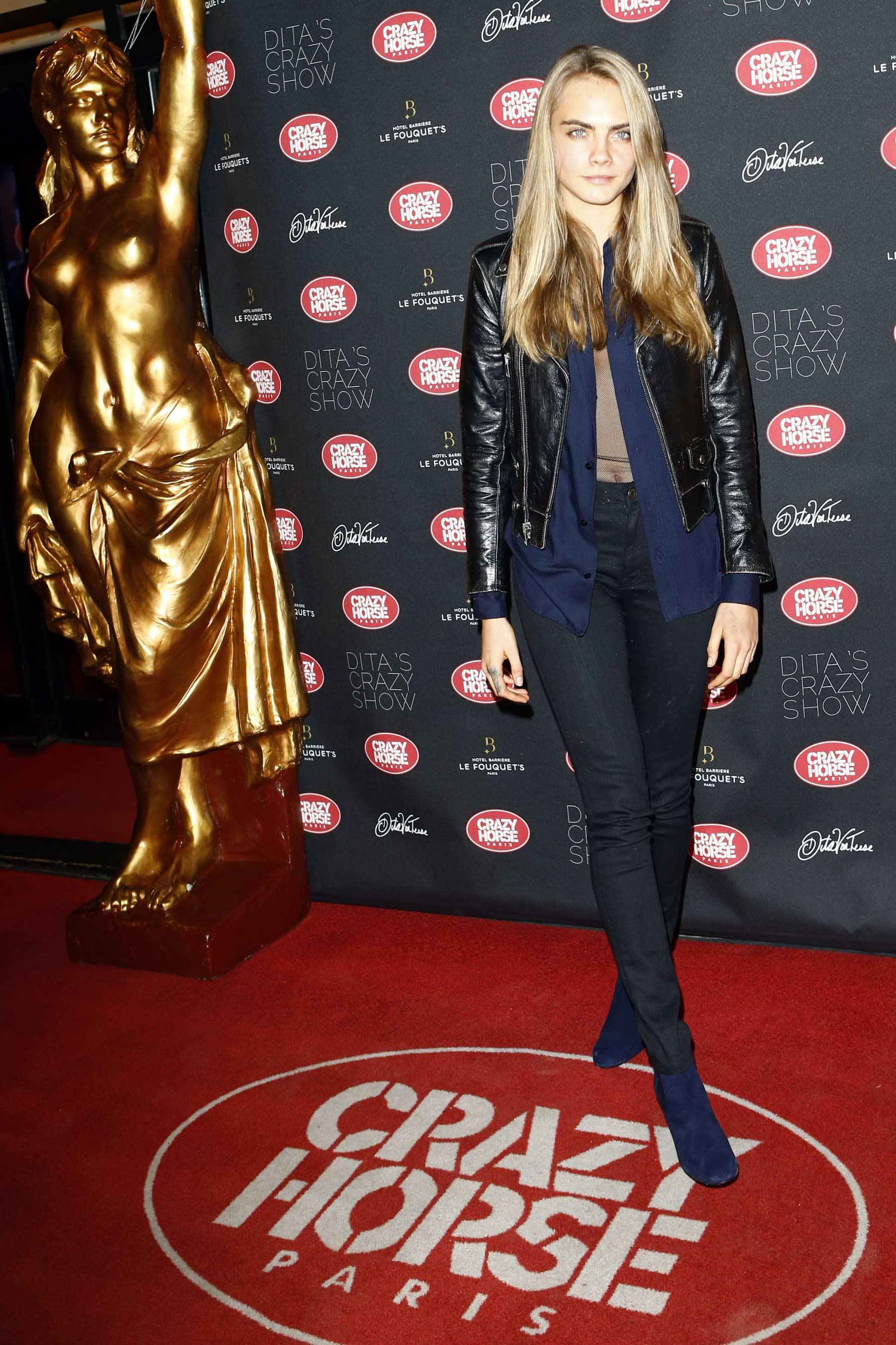 Cara Delevingne attends Dita Von Teese's Crazy Show