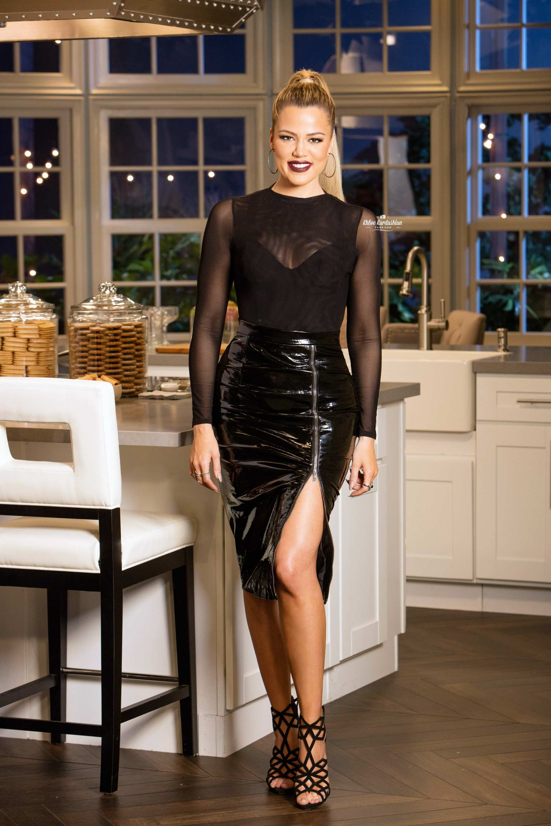 Khloe Kardashian on the set of Kocktails with Khloe