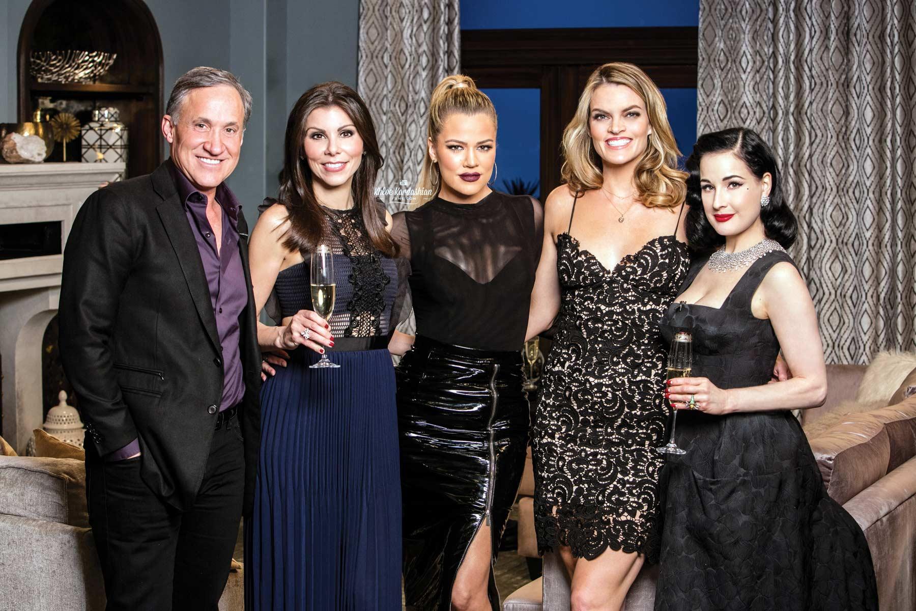 Khloe Kardashian on the set of Kocktails with Khloe
