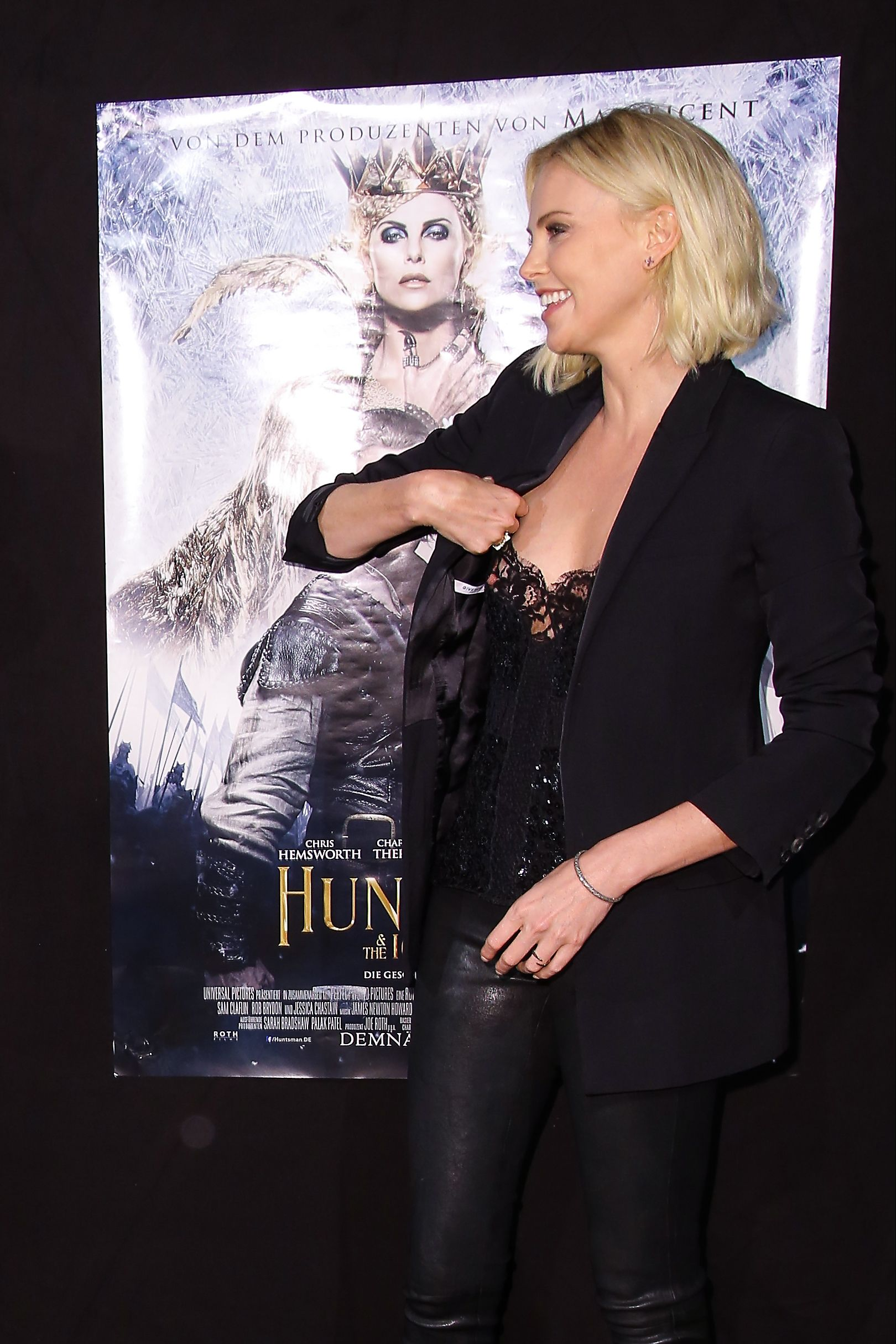 Charlize Theron attends The Huntsman Winter's War premiere