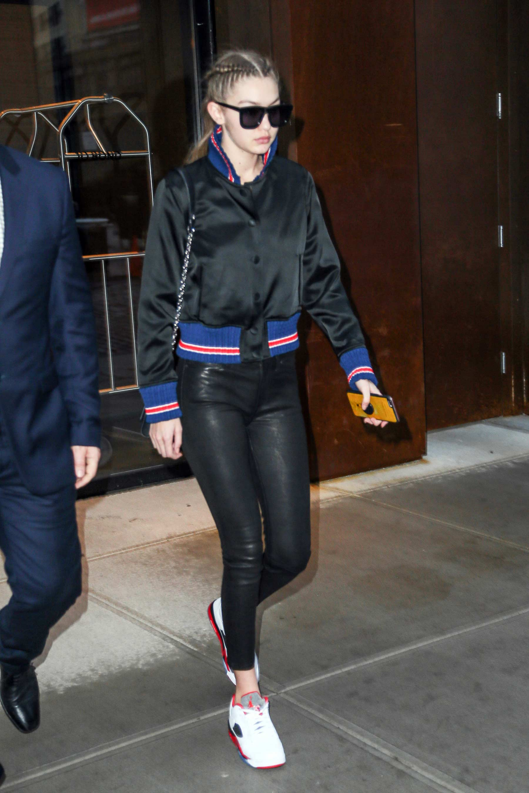 Gigi Hadid heading to the gym in New York City