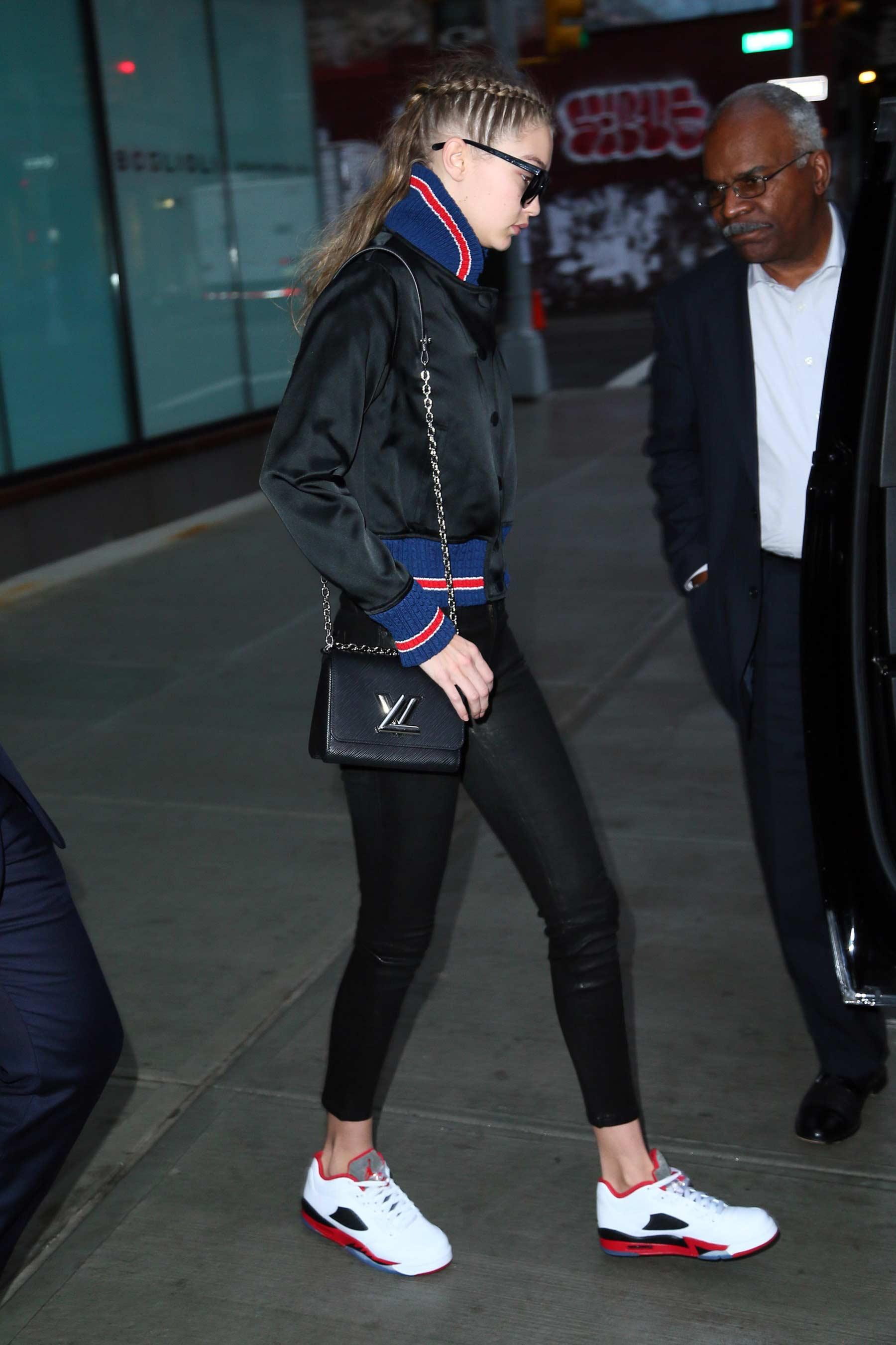 Gigi Hadid heading to the gym in New York City