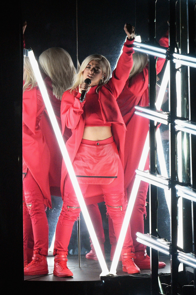 Bebe Rexha attends the iHeartRadio Music Awards