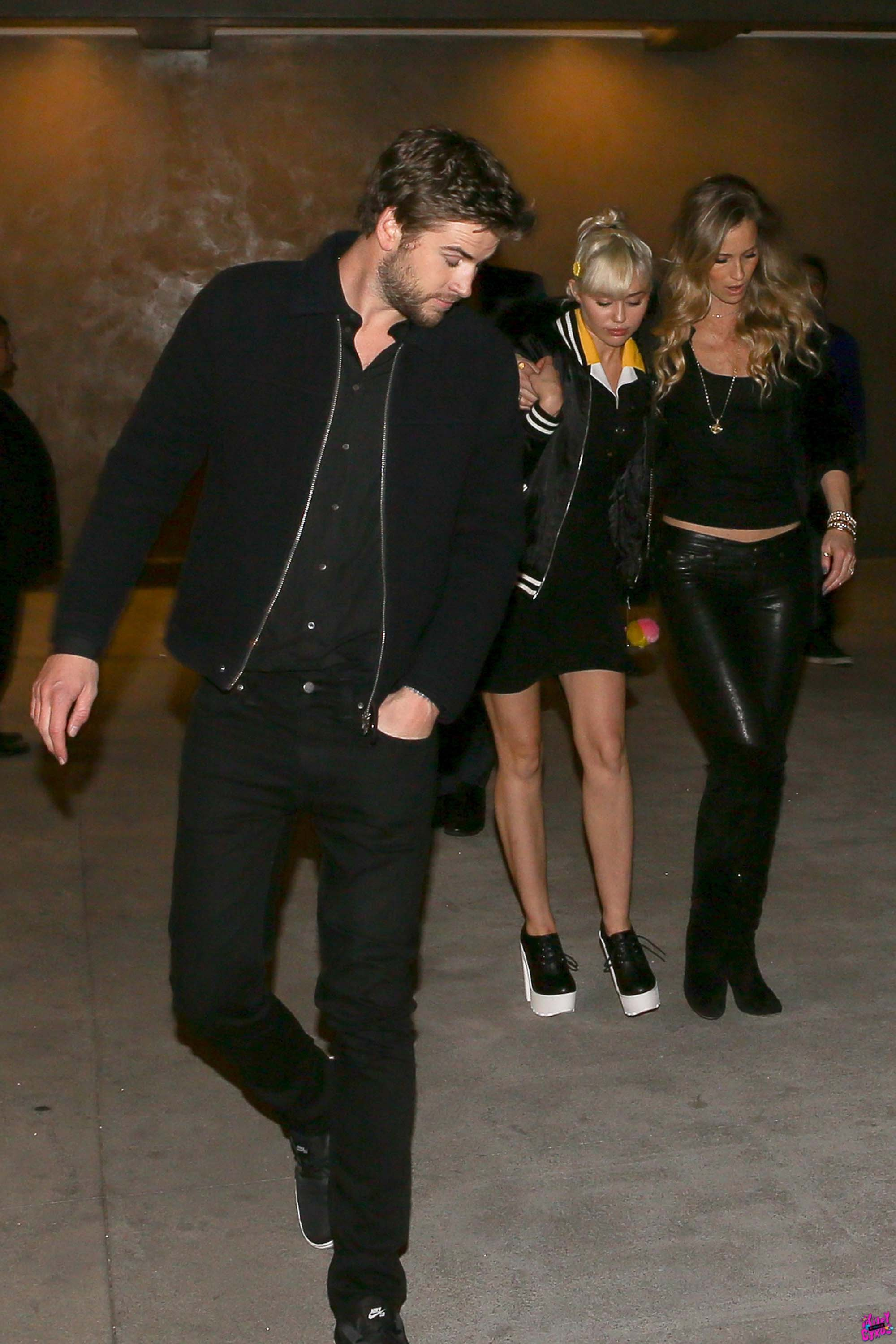 Miley Cyrus was spotted with a girl pal while leaving the Baltaire restaurant