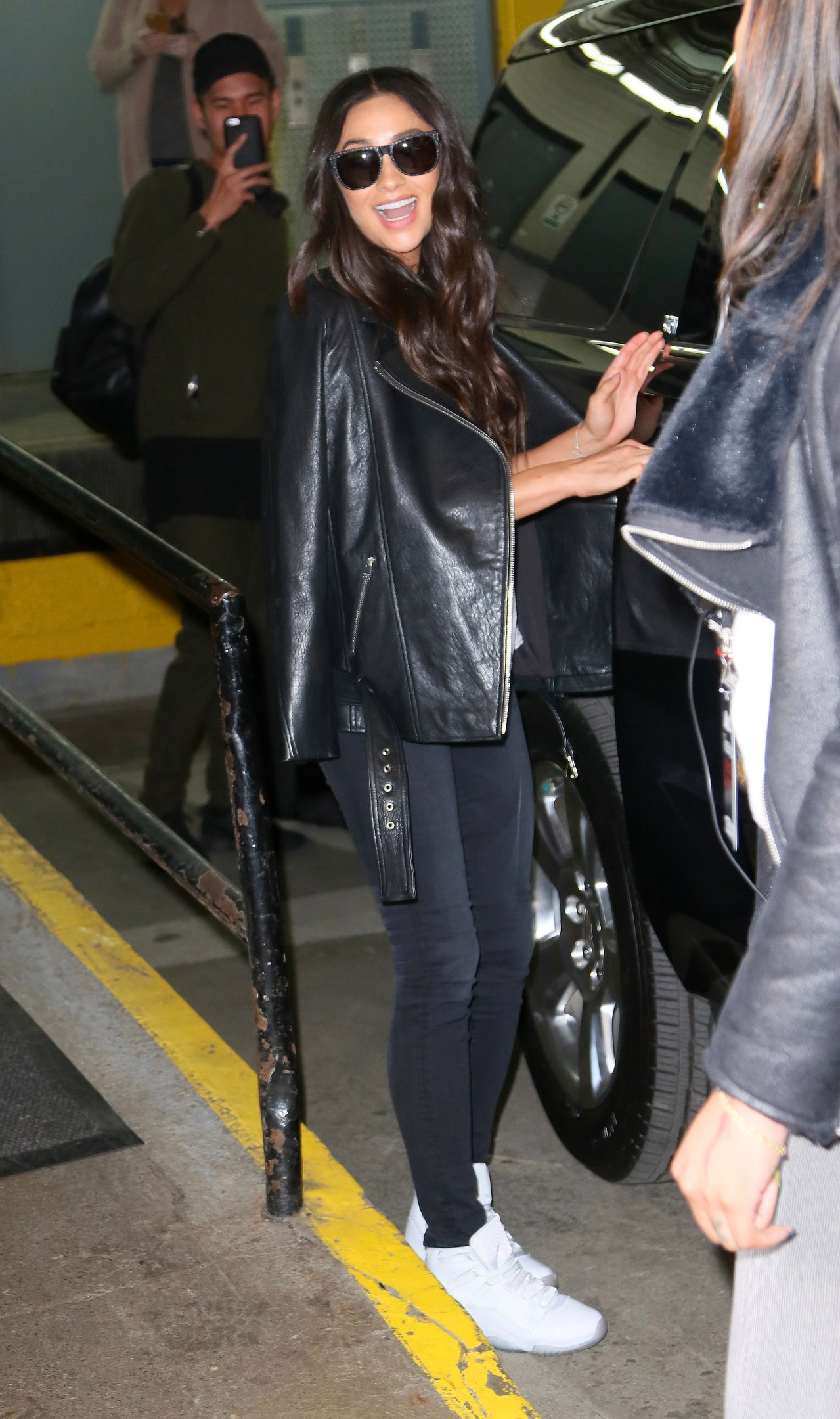 Shay Mitchell leaving the AOL Studios