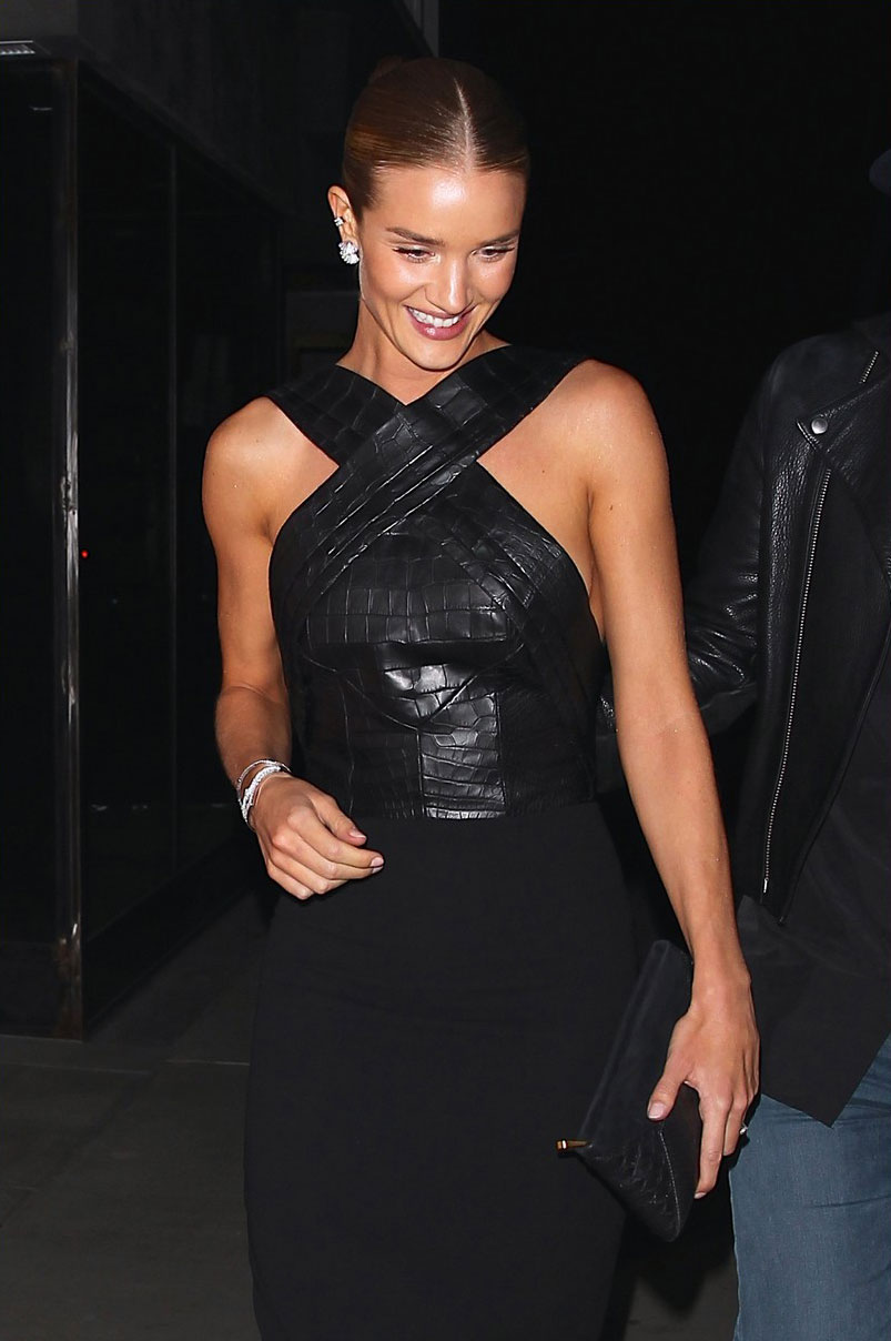 Rosie Huntington-Whiteley out for dinner