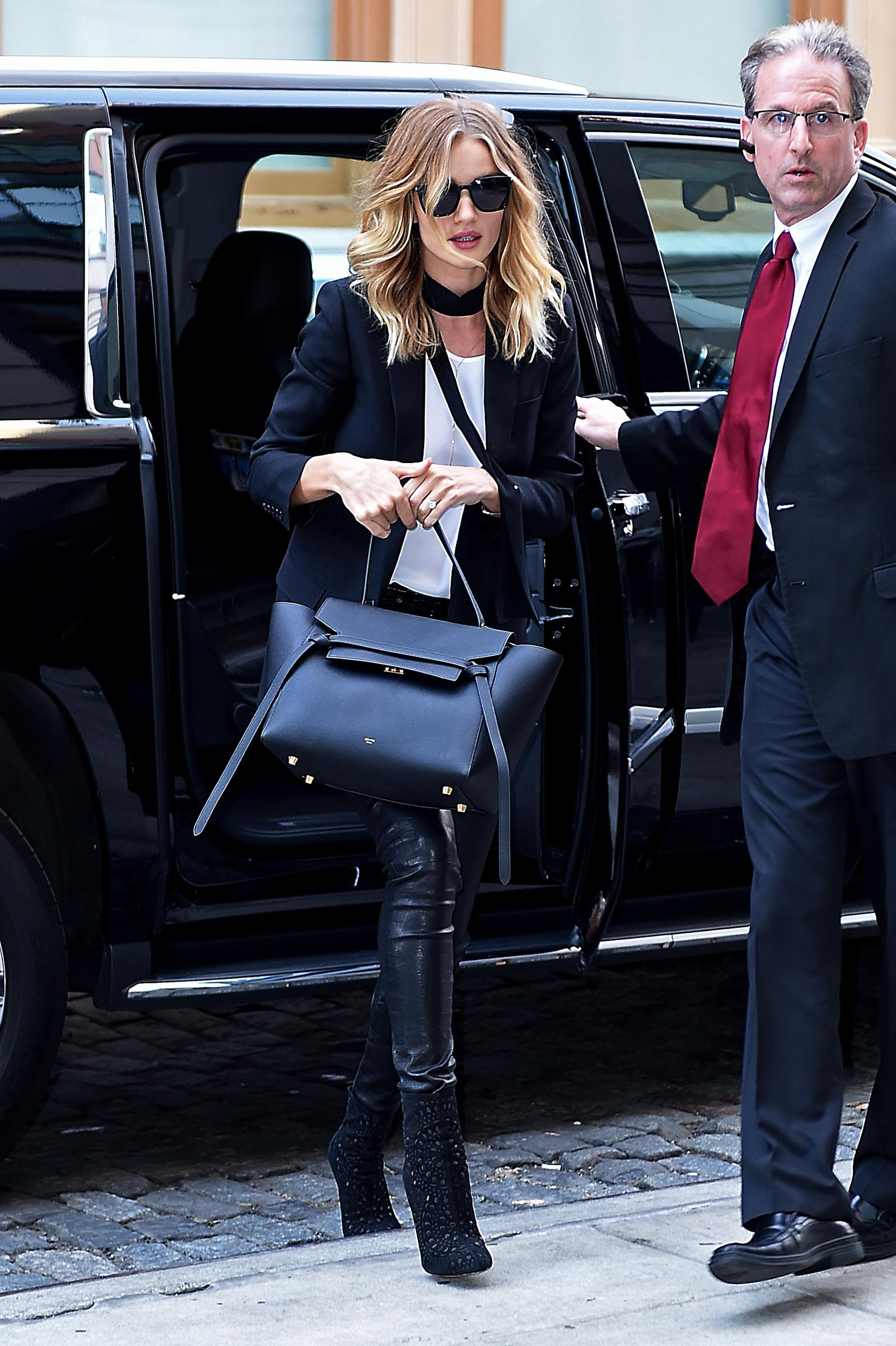 Rosie Huntington-Whiteley out in NYC