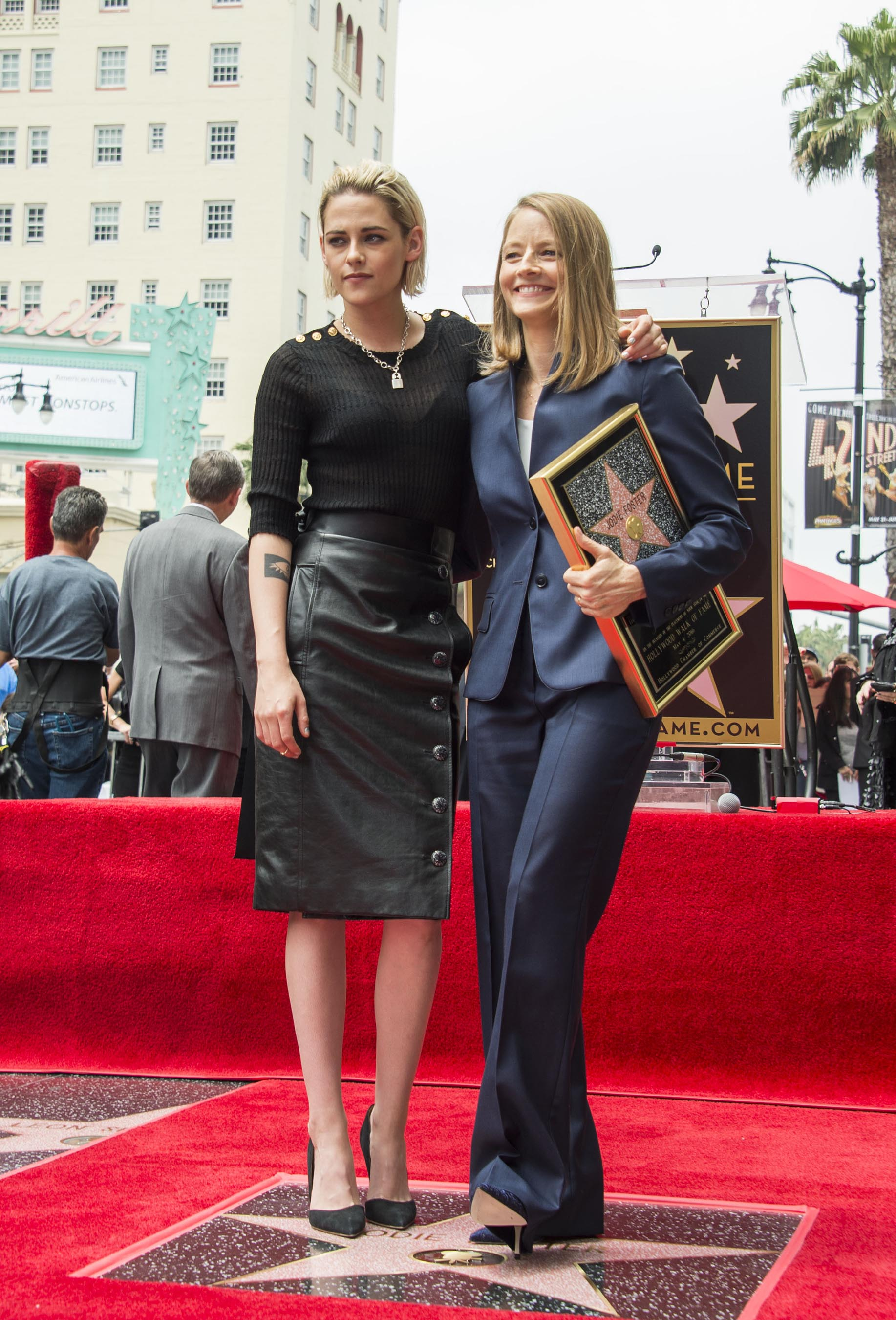 """Kristen Stewart attends Jodie Foster's """"Walk Of Fame"""" Ceremony"""