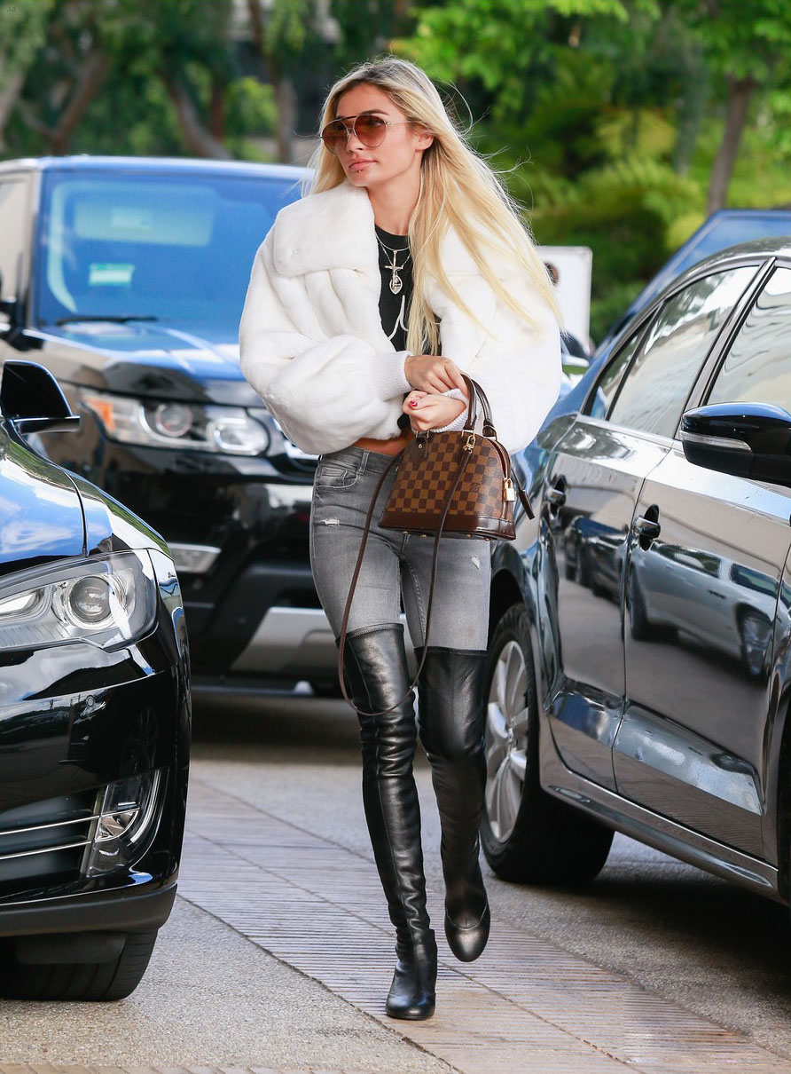 Pia Mia was spotted at Barney's New York