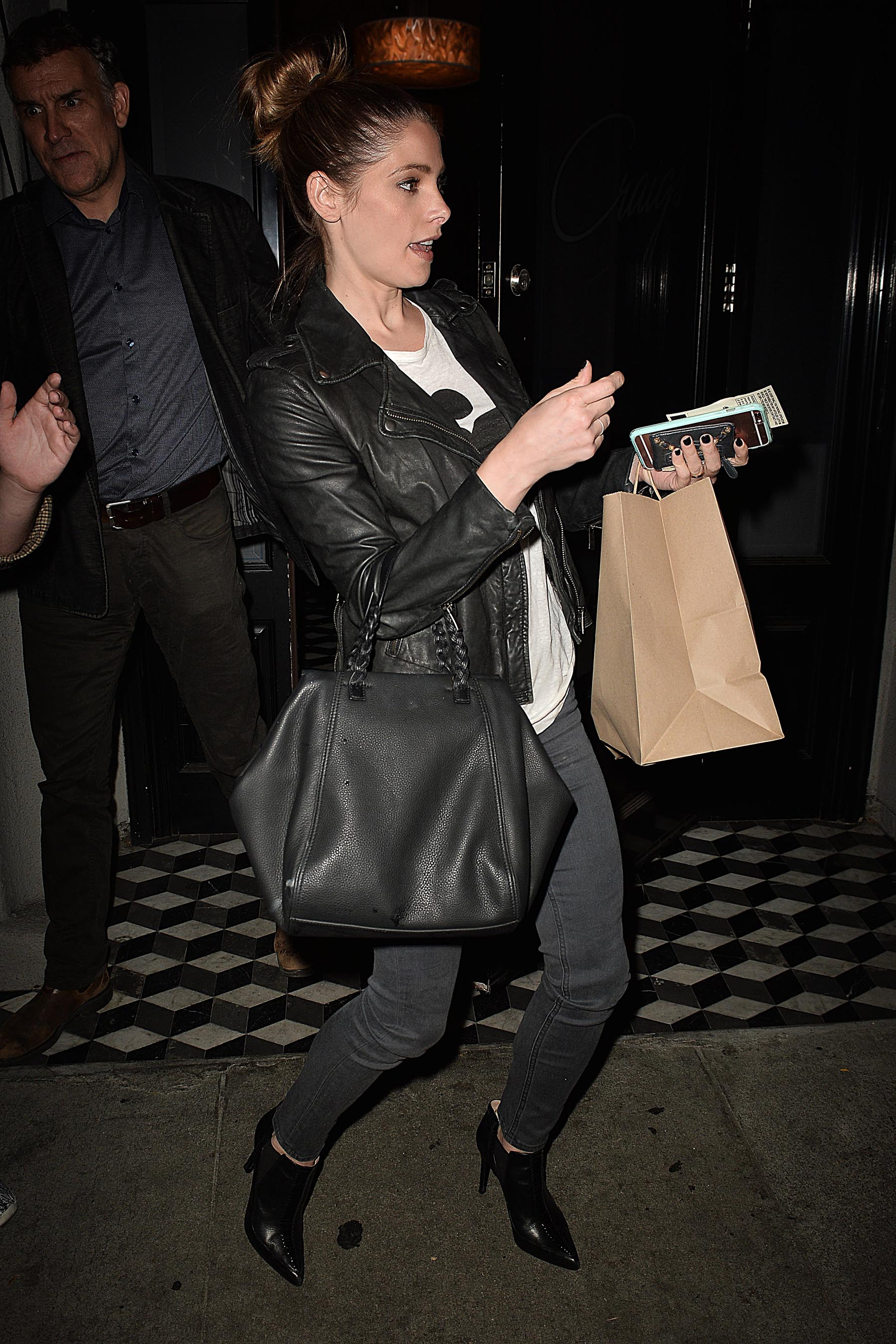 Ashley Greene leaving Craig's Restaurant